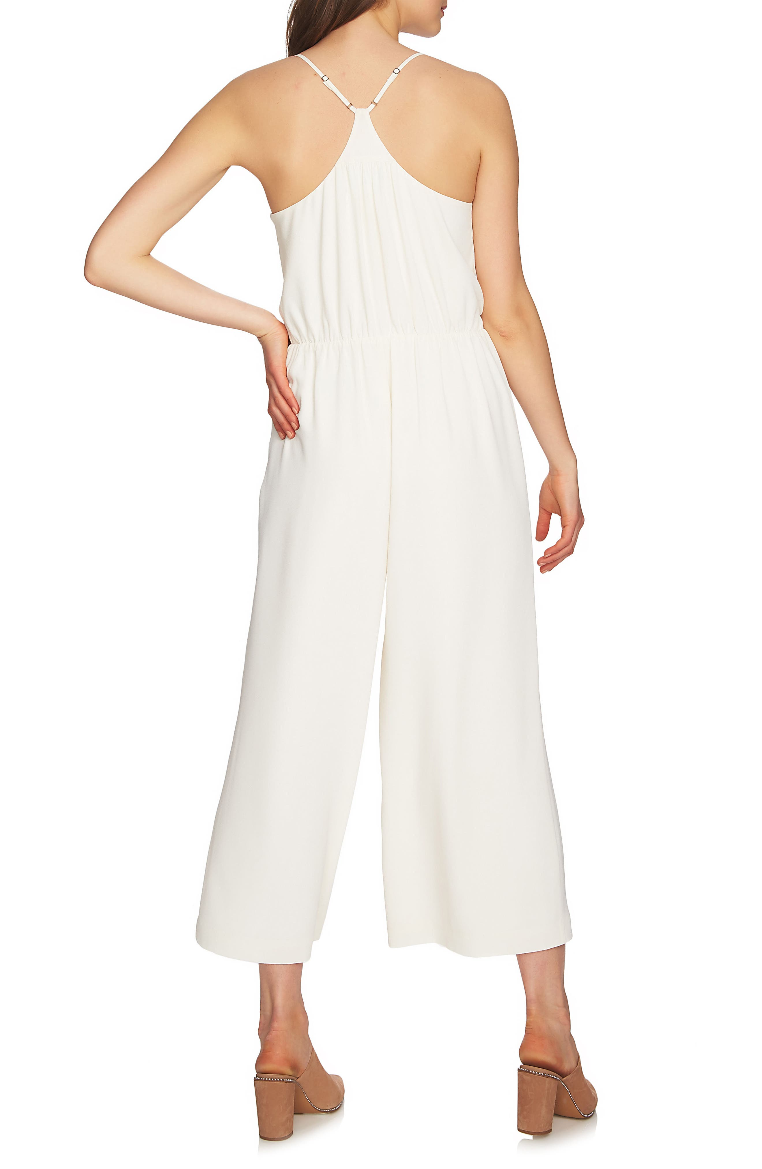 Tie Waist Racerback Jumpsuit,                             Alternate thumbnail 2, color,                             108