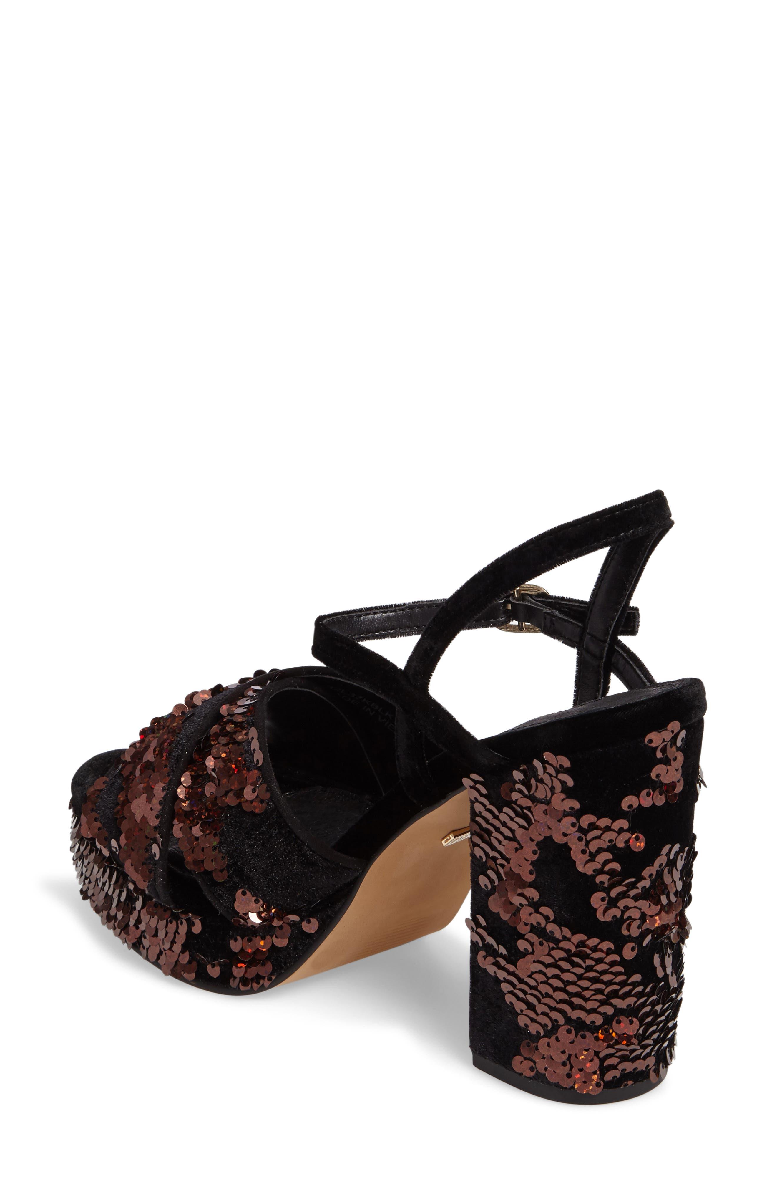 'Leona' Print Platform Sandal,                             Alternate thumbnail 2, color,                             002