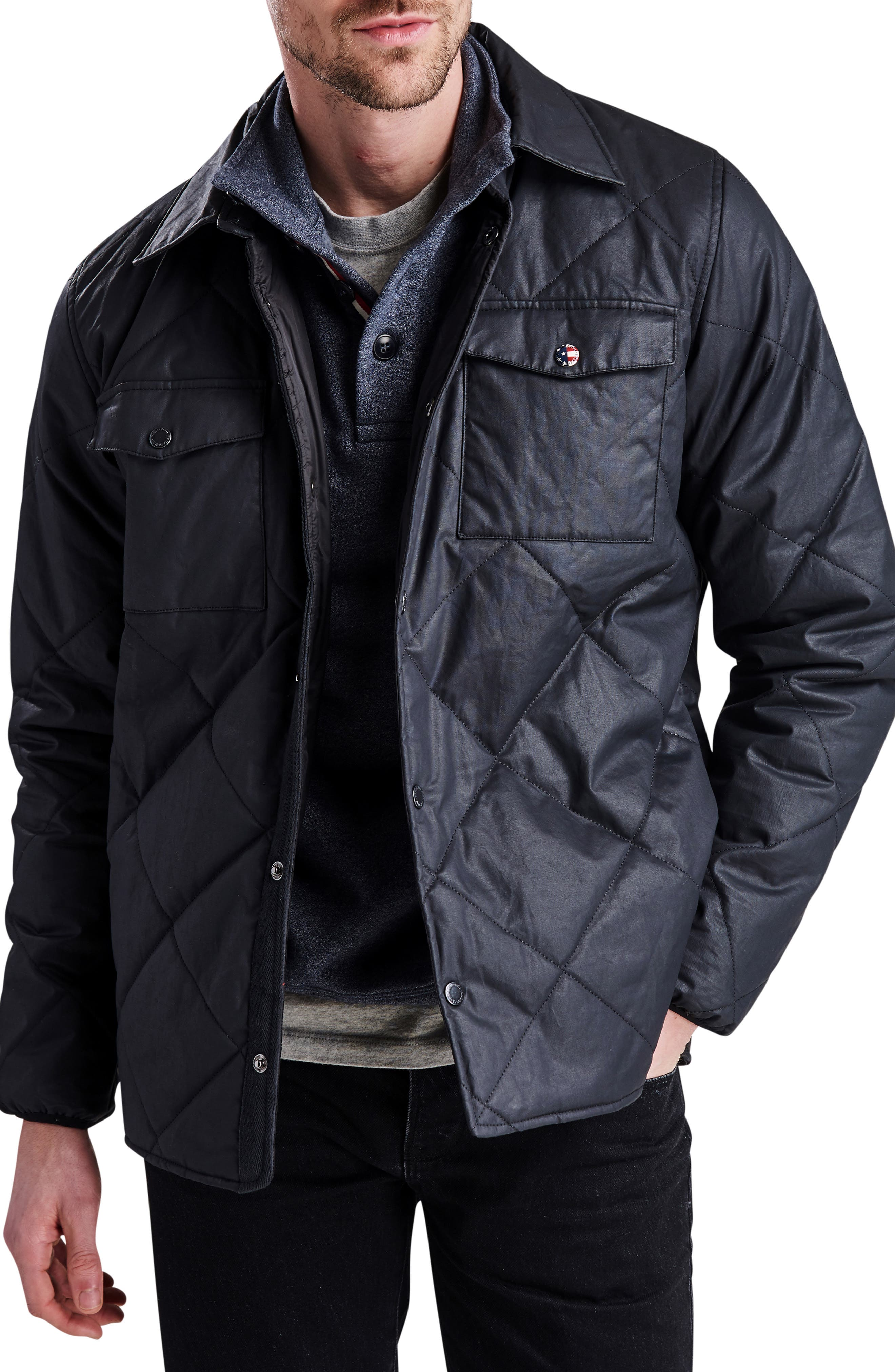 International Sonoran Quilted Shirt Jacket,                         Main,                         color, BLACK