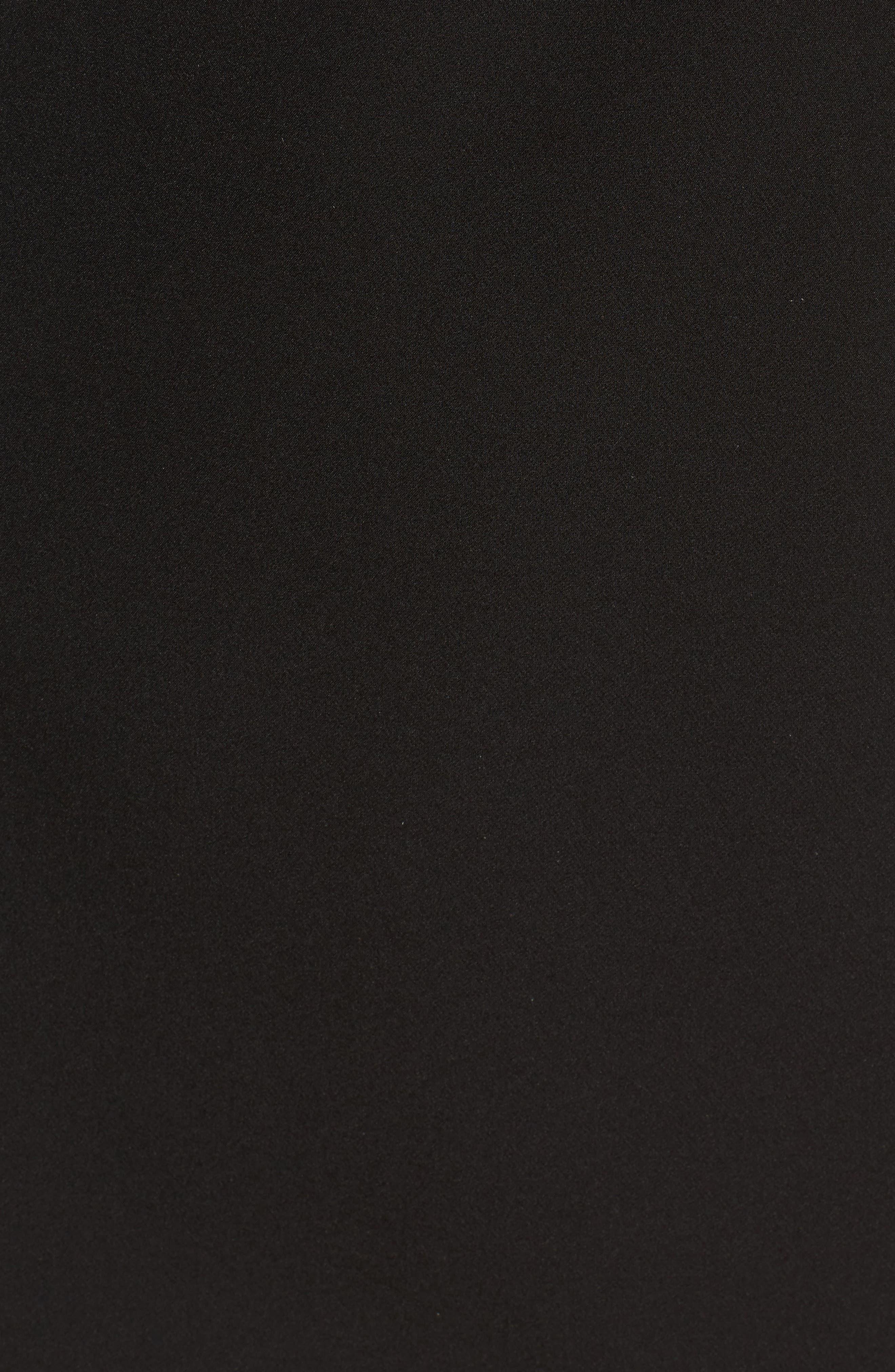 Bracken Asymmetrical Minidress,                             Alternate thumbnail 5, color,                             001