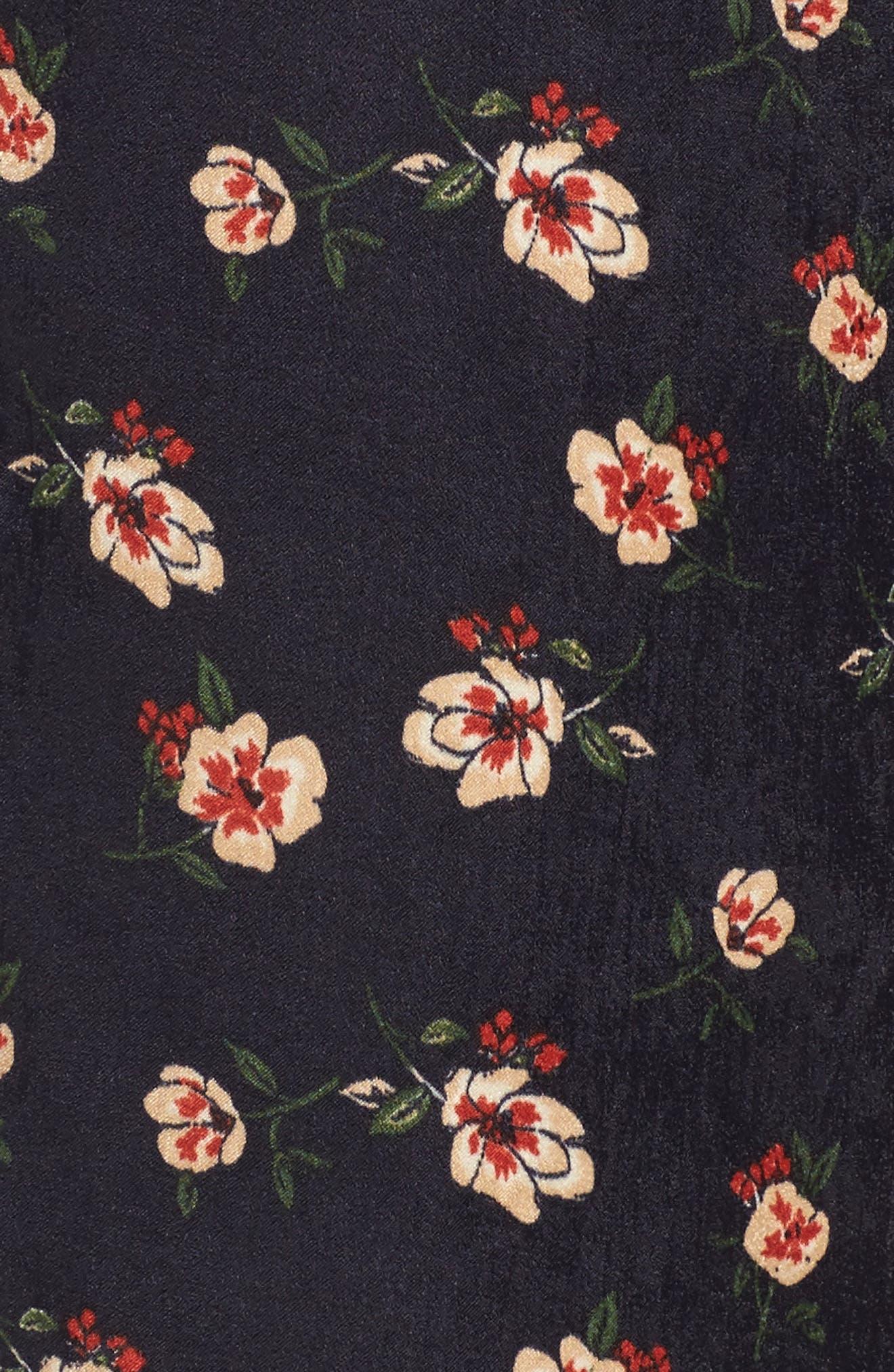 Floral Wide Leg Pants,                             Alternate thumbnail 5, color,                             498