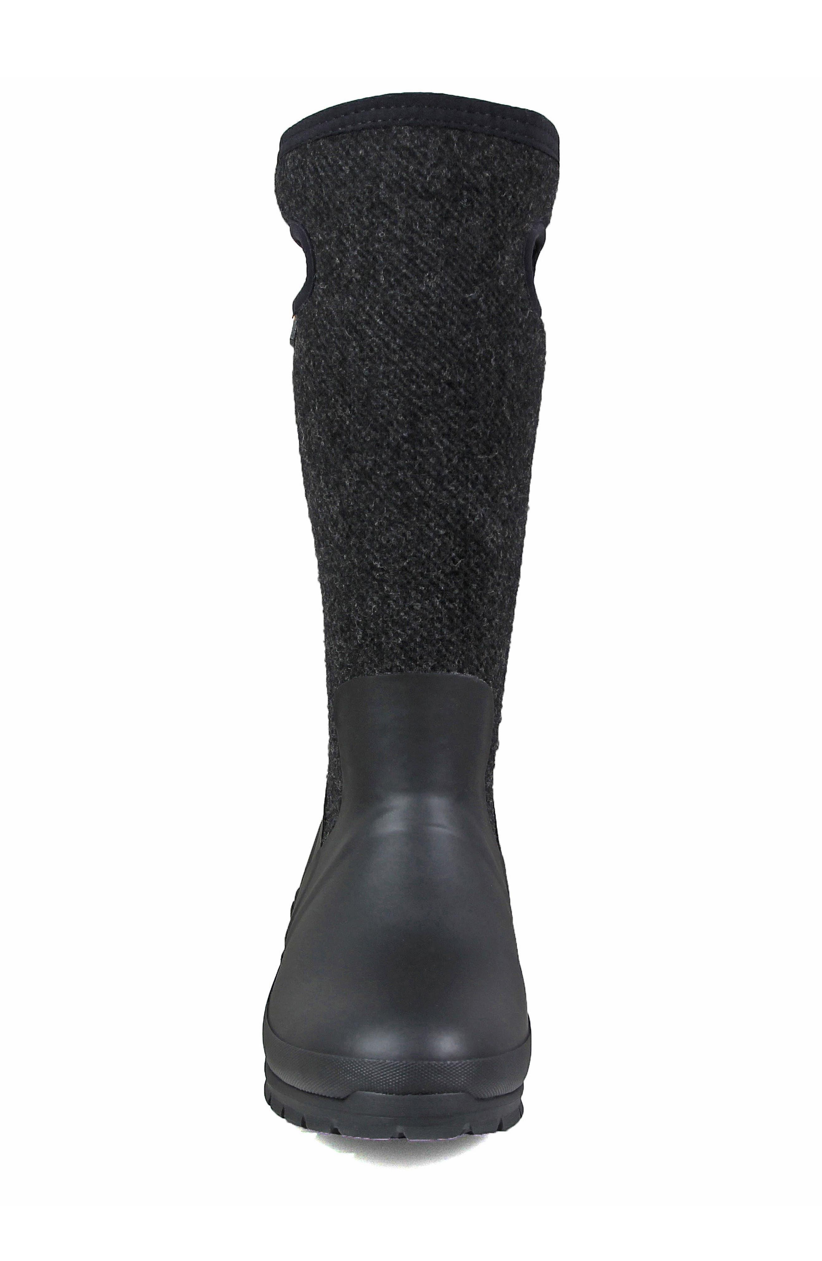 Crandall Waterproof Tall Boot,                             Alternate thumbnail 4, color,                             001