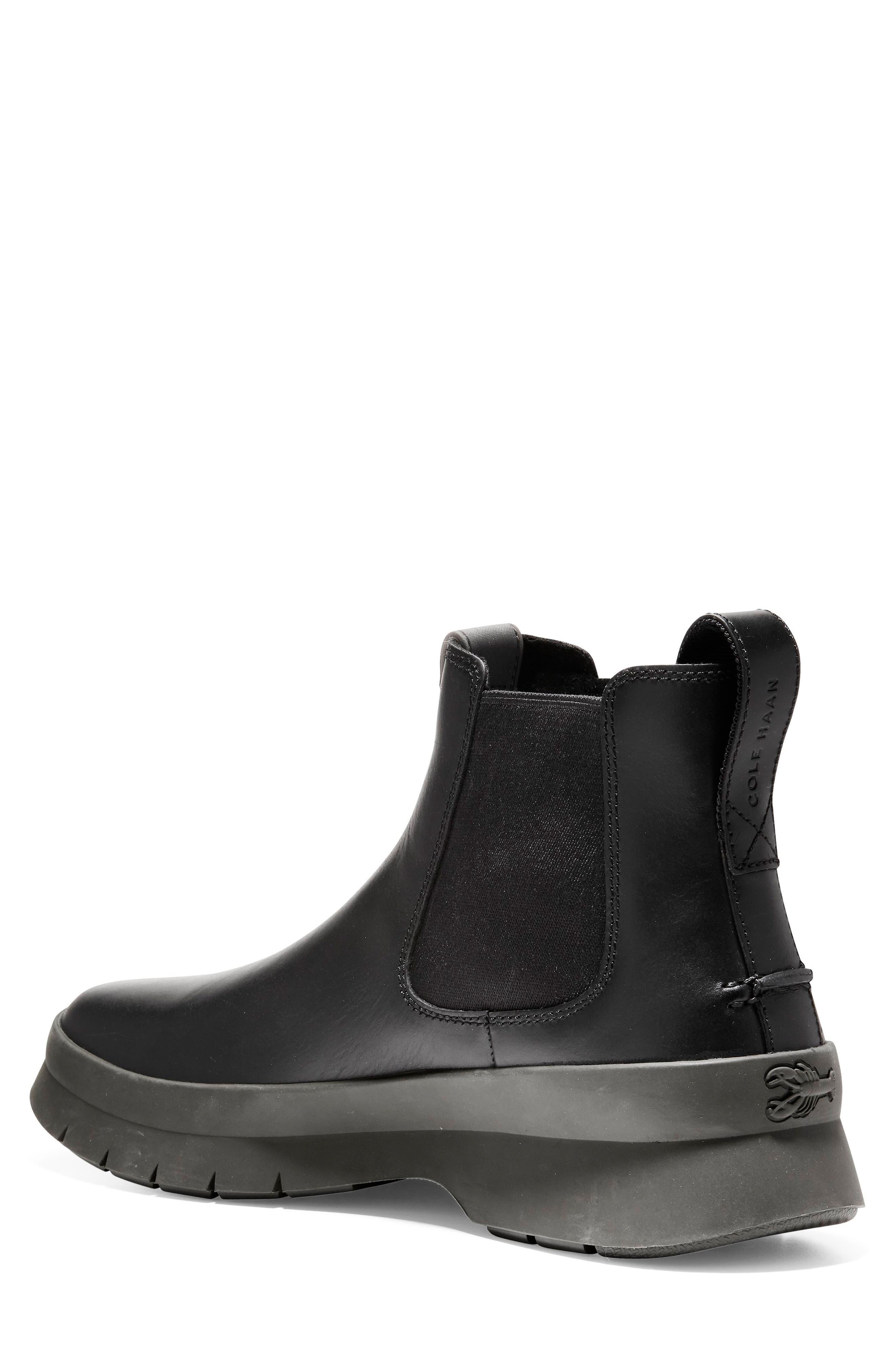 Pinch Utility Waterproof Chelsea Boot,                             Alternate thumbnail 2, color,                             BLACK/ HAZEL LEATHER
