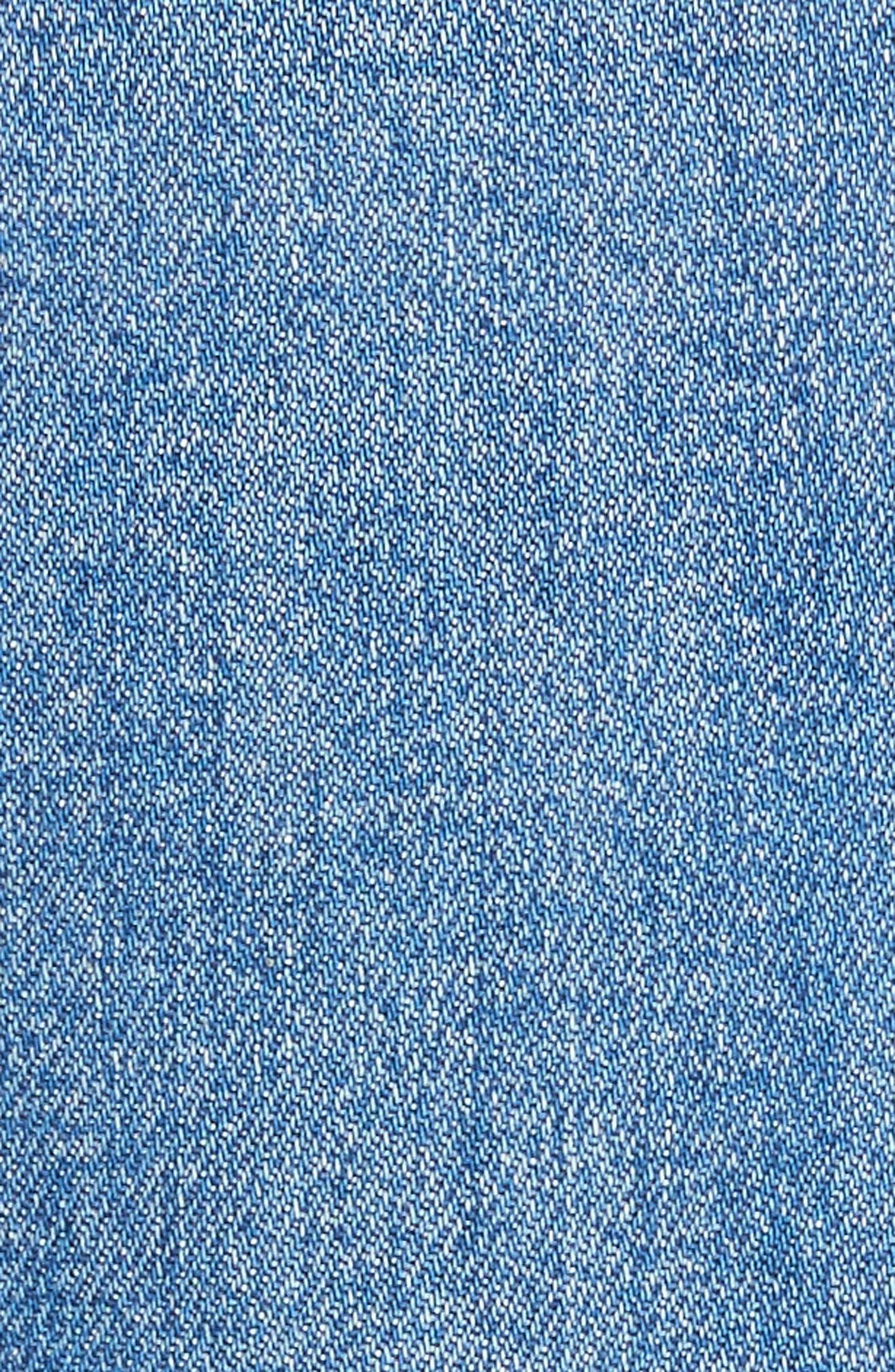 AO.LA Gorgeous Snap Side Crop Flare Jeans,                             Alternate thumbnail 5, color,                             460