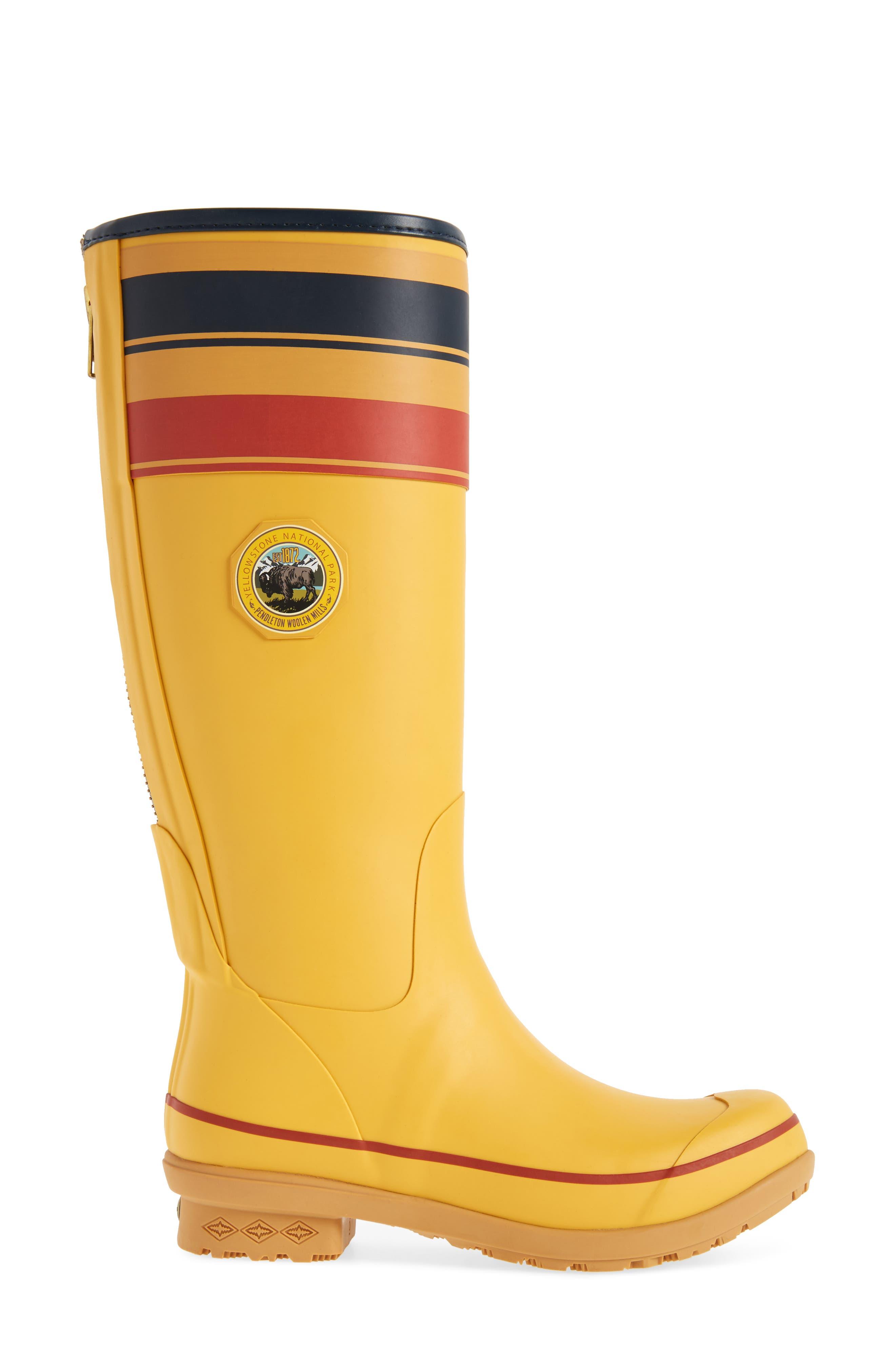 Pendleton Yellowstone National Park Tall Rain Boot,                             Alternate thumbnail 3, color,                             YELLOW