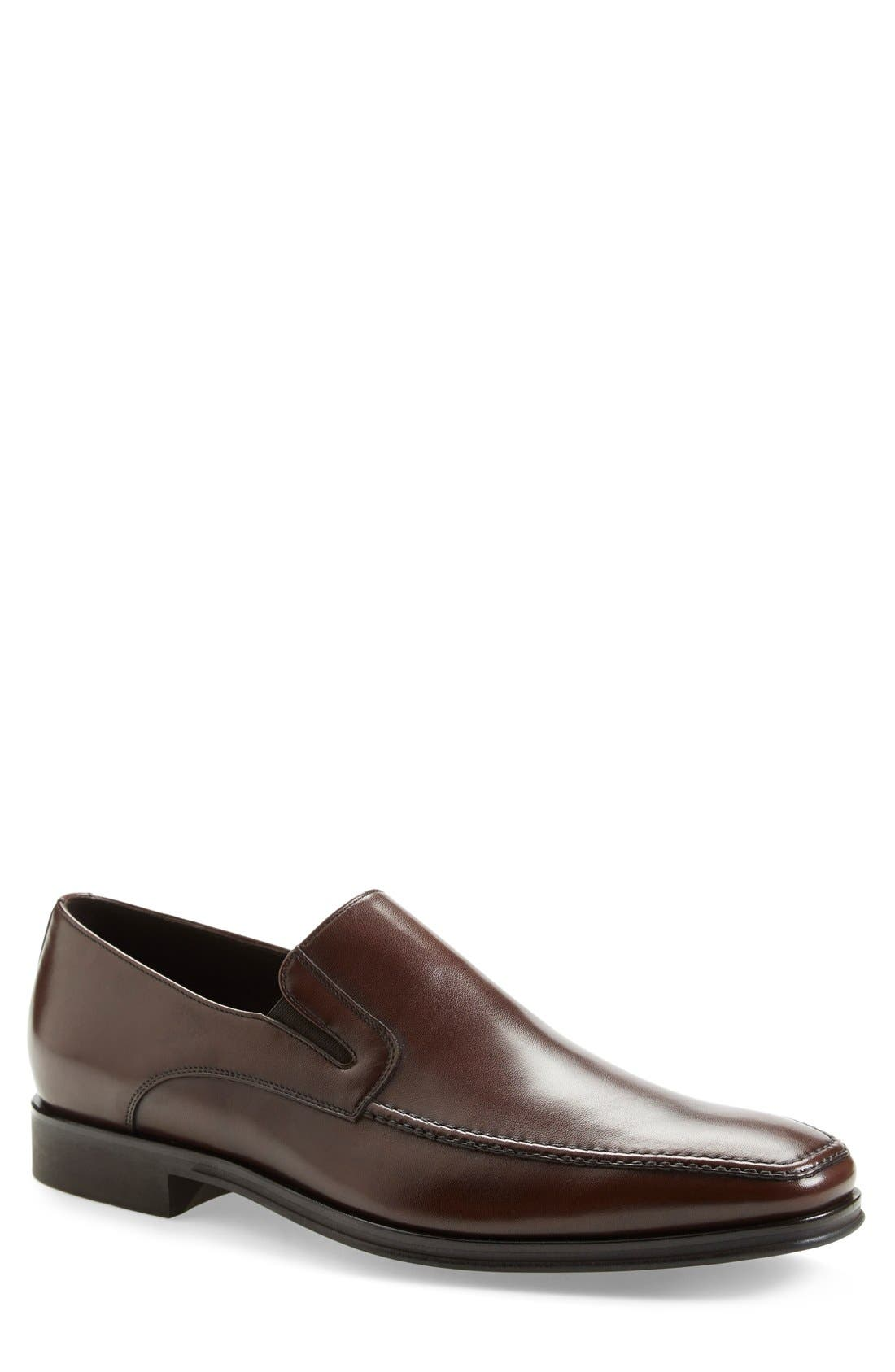 Lucca Nappa Leather Loafer,                             Main thumbnail 1, color,                             BROWN