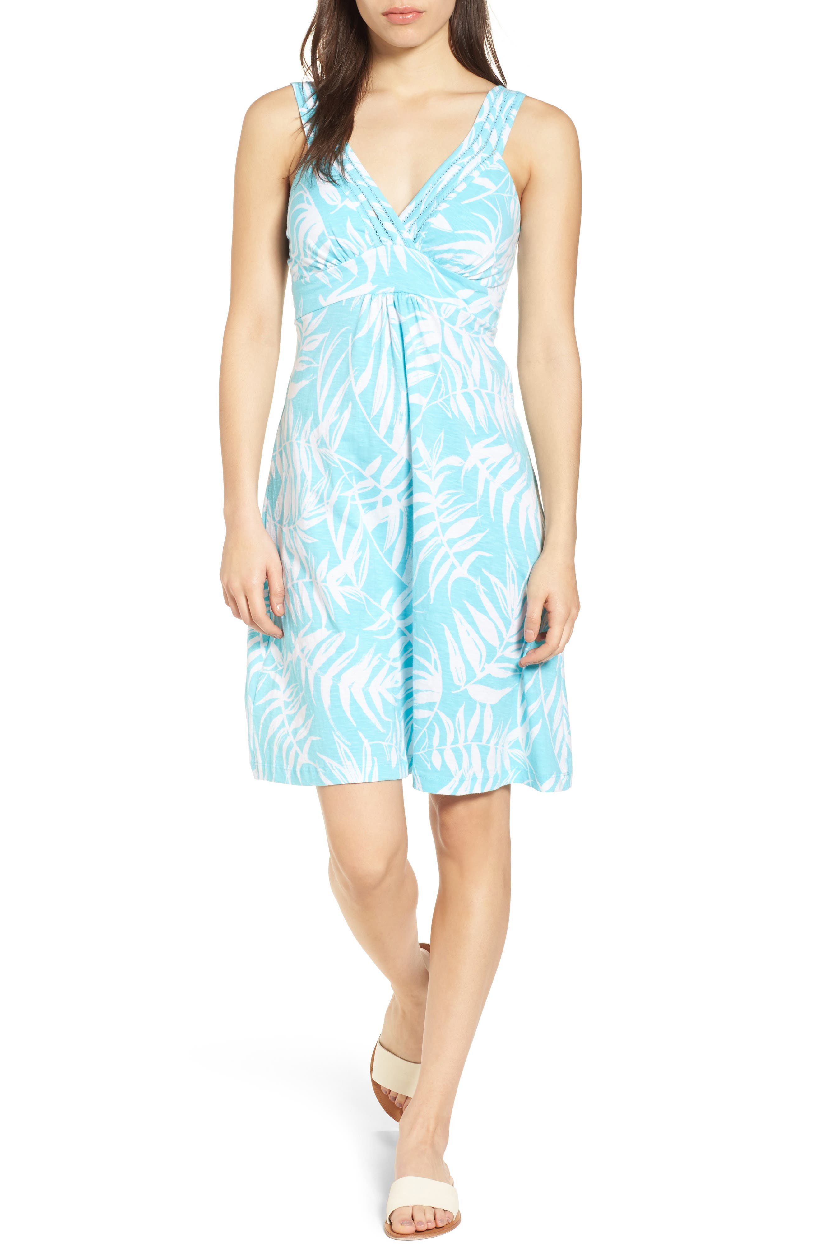 Fronds with Benefits Dress,                             Main thumbnail 1, color,                             BLUE RADIANCE