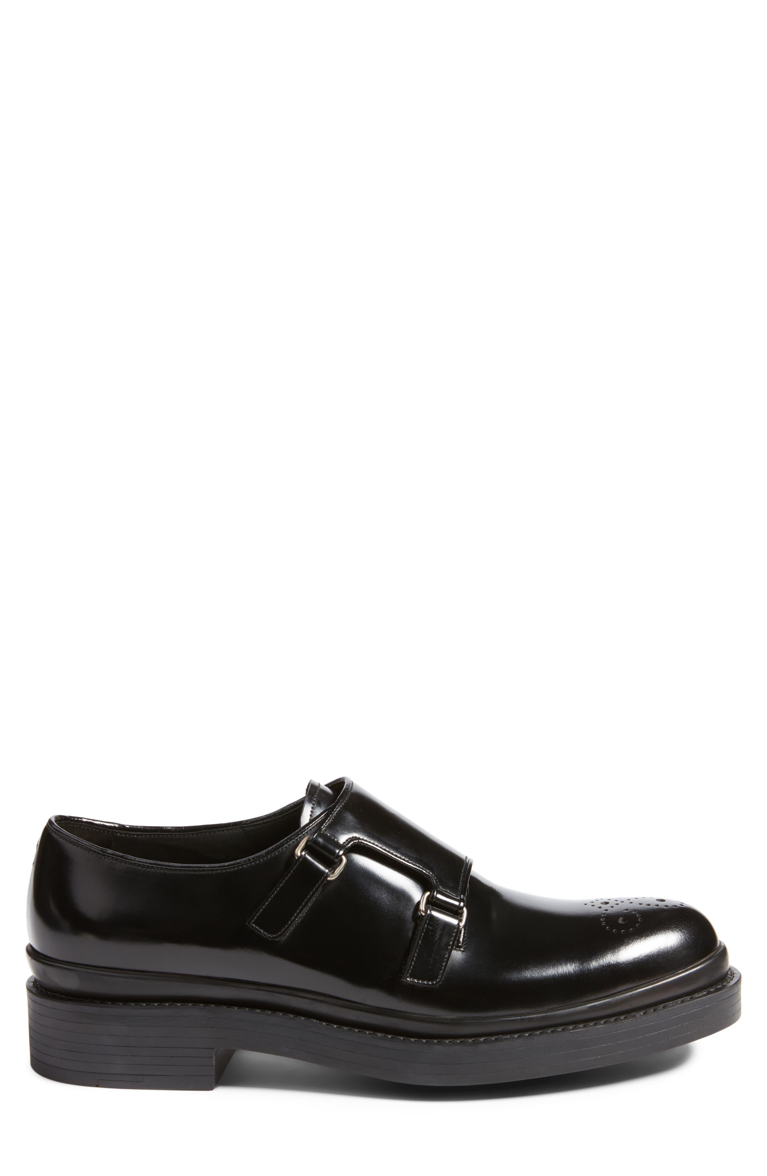 Double Monk Strap Shoe,                             Alternate thumbnail 3, color,                             001