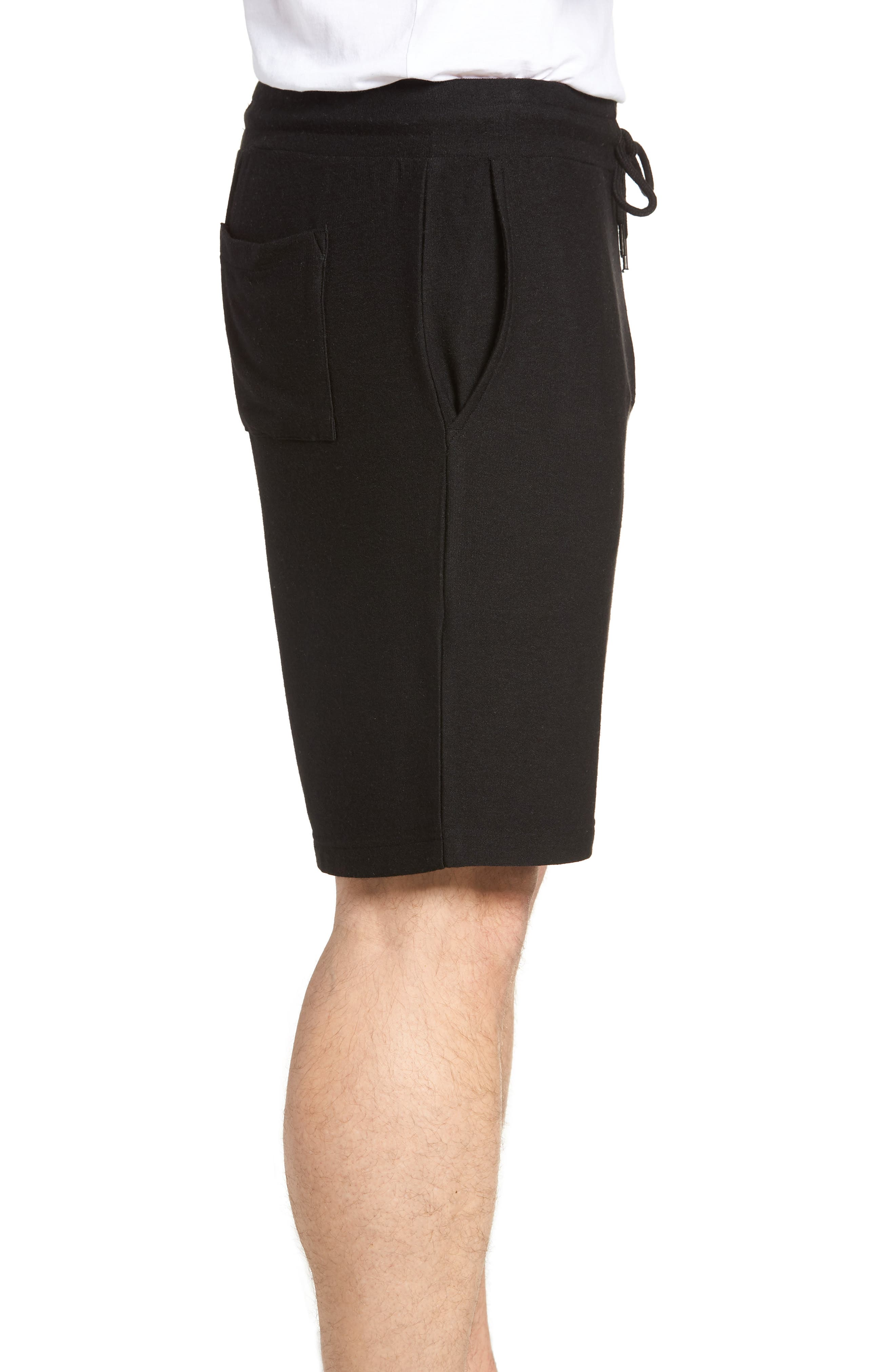Lounge Shorts,                             Alternate thumbnail 3, color,                             BLACK