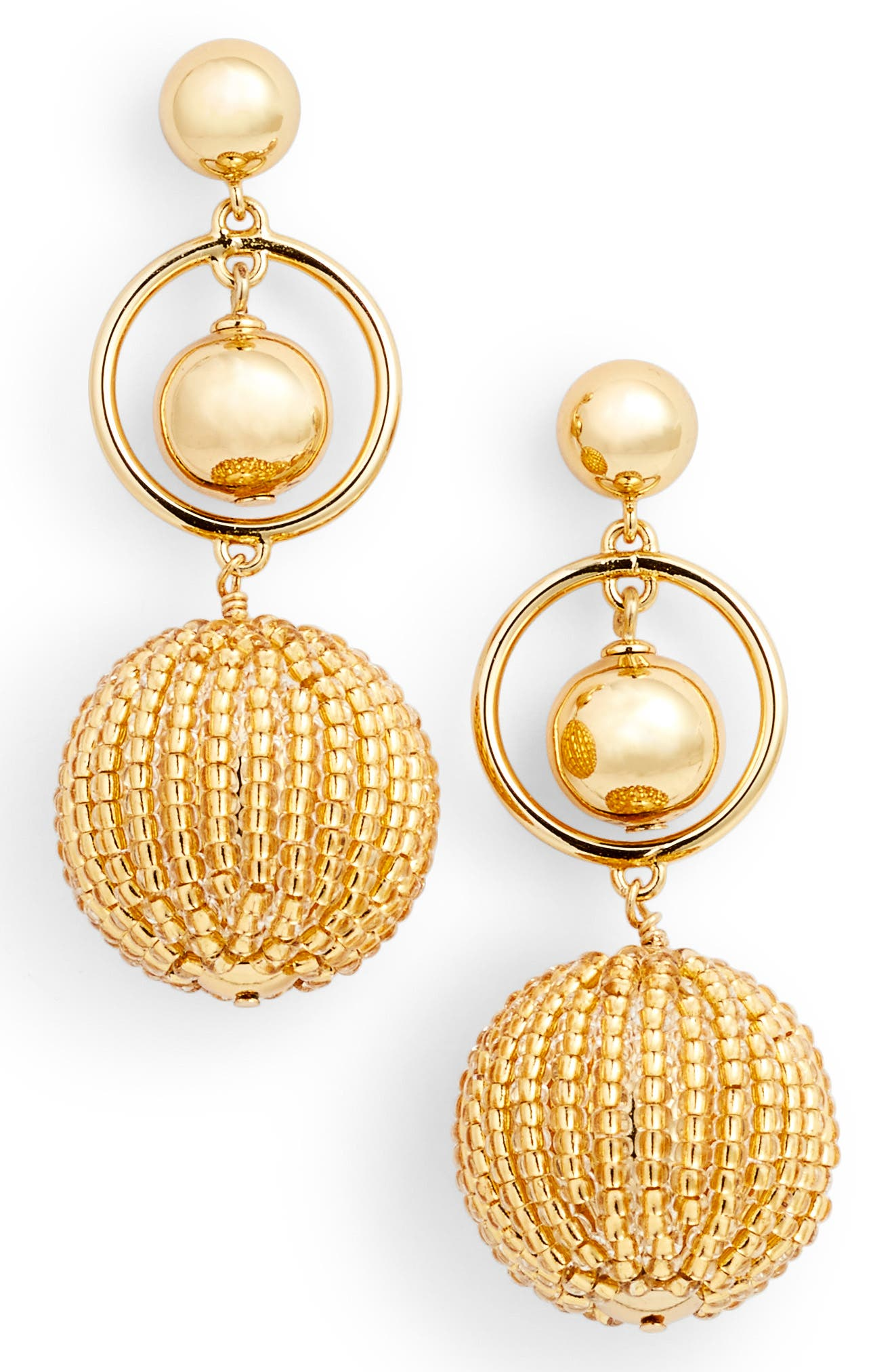 beads and baubles drop earrings,                             Main thumbnail 3, color,