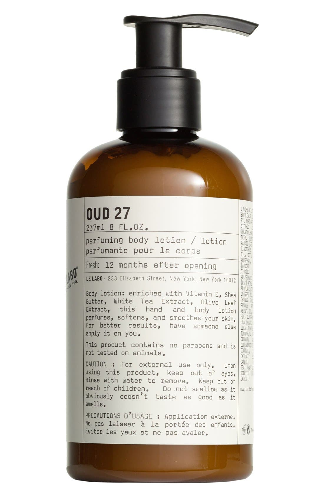 'Oud 27' Hand & Body Lotion,                             Main thumbnail 1, color,                             NO COLOR