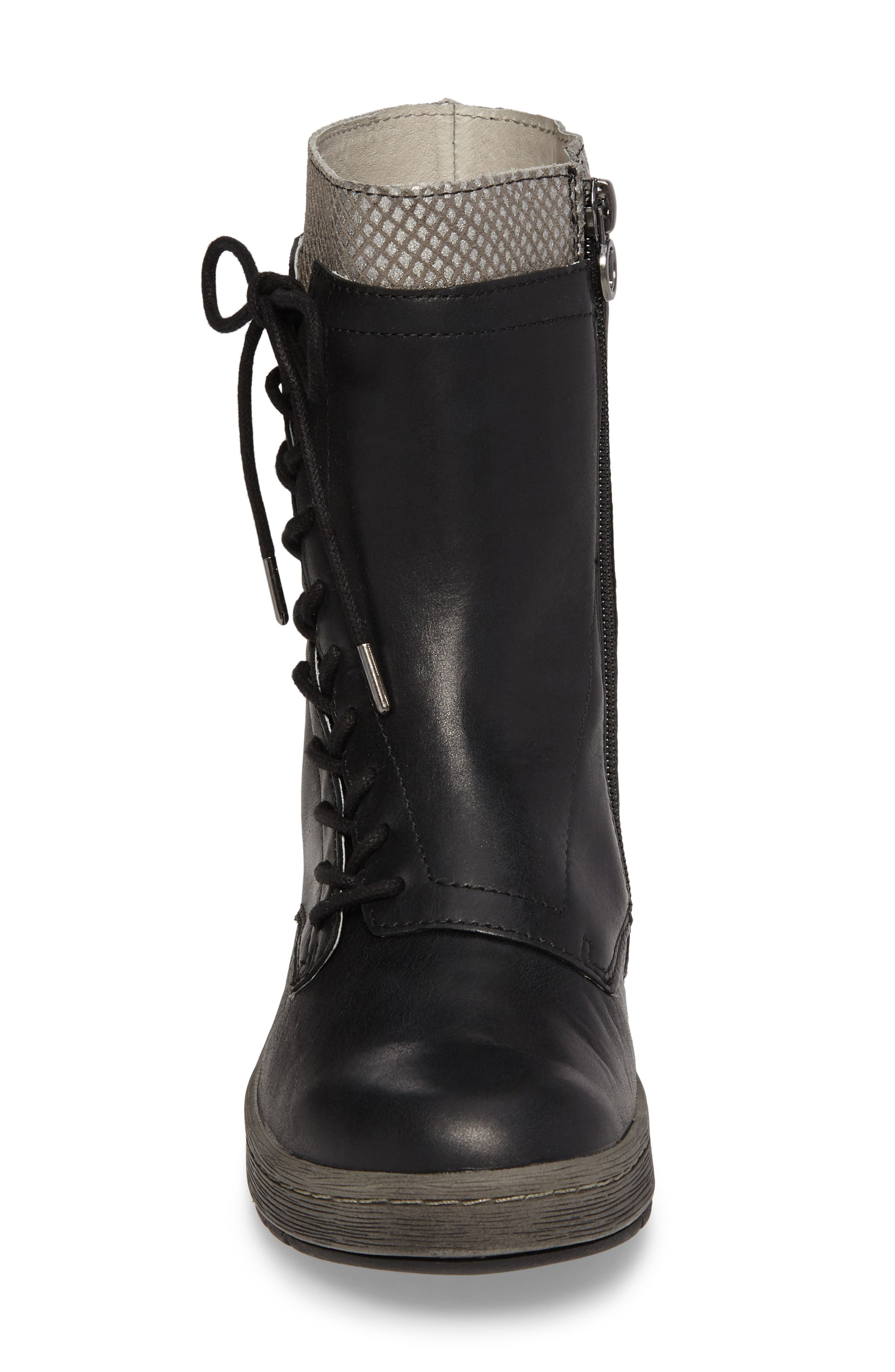 Chestnut Lace-Up Water Resistant Boot,                             Alternate thumbnail 4, color,                             001