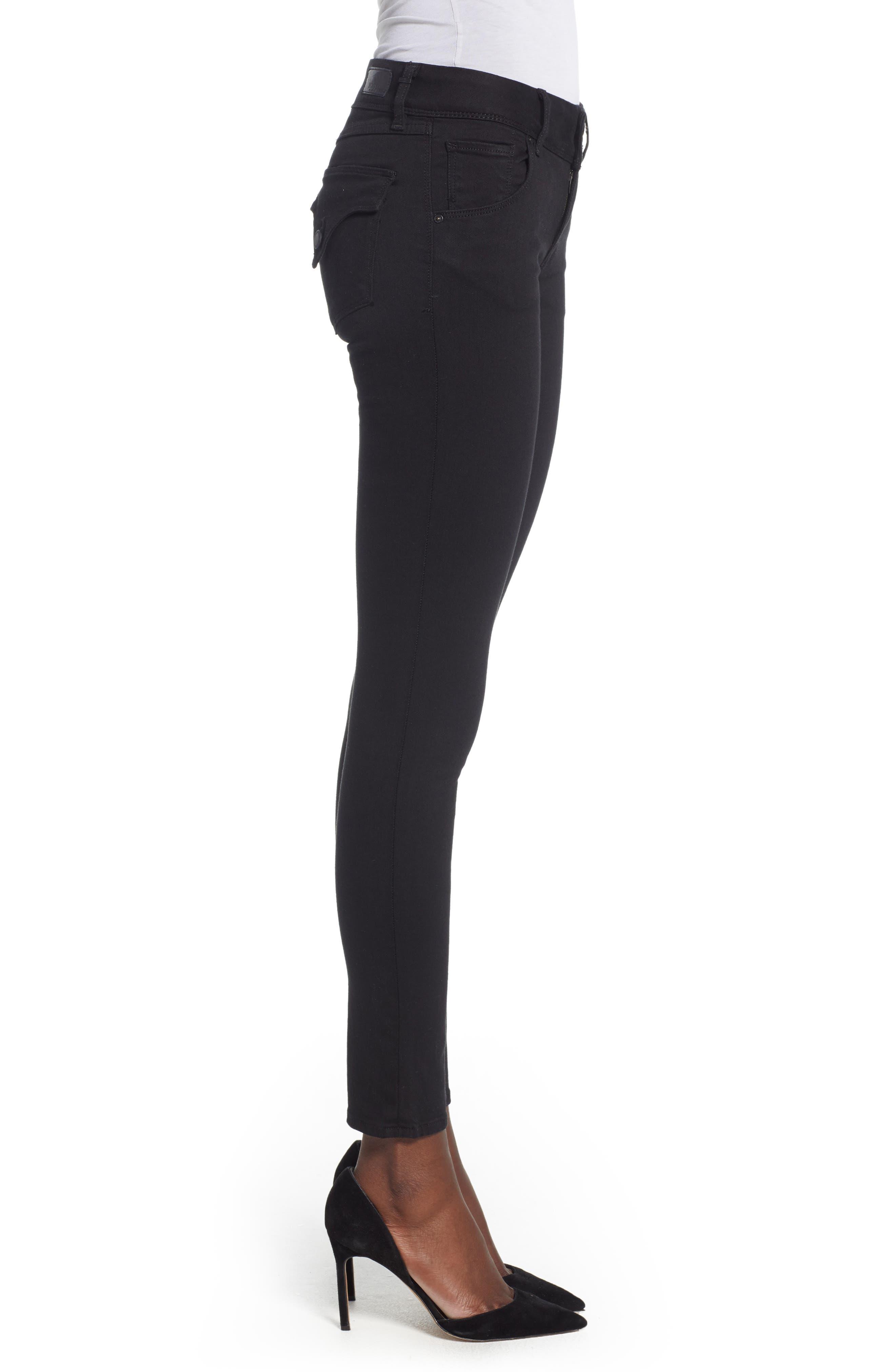Collin Skinny Jeans,                             Alternate thumbnail 3, color,                             BLACK