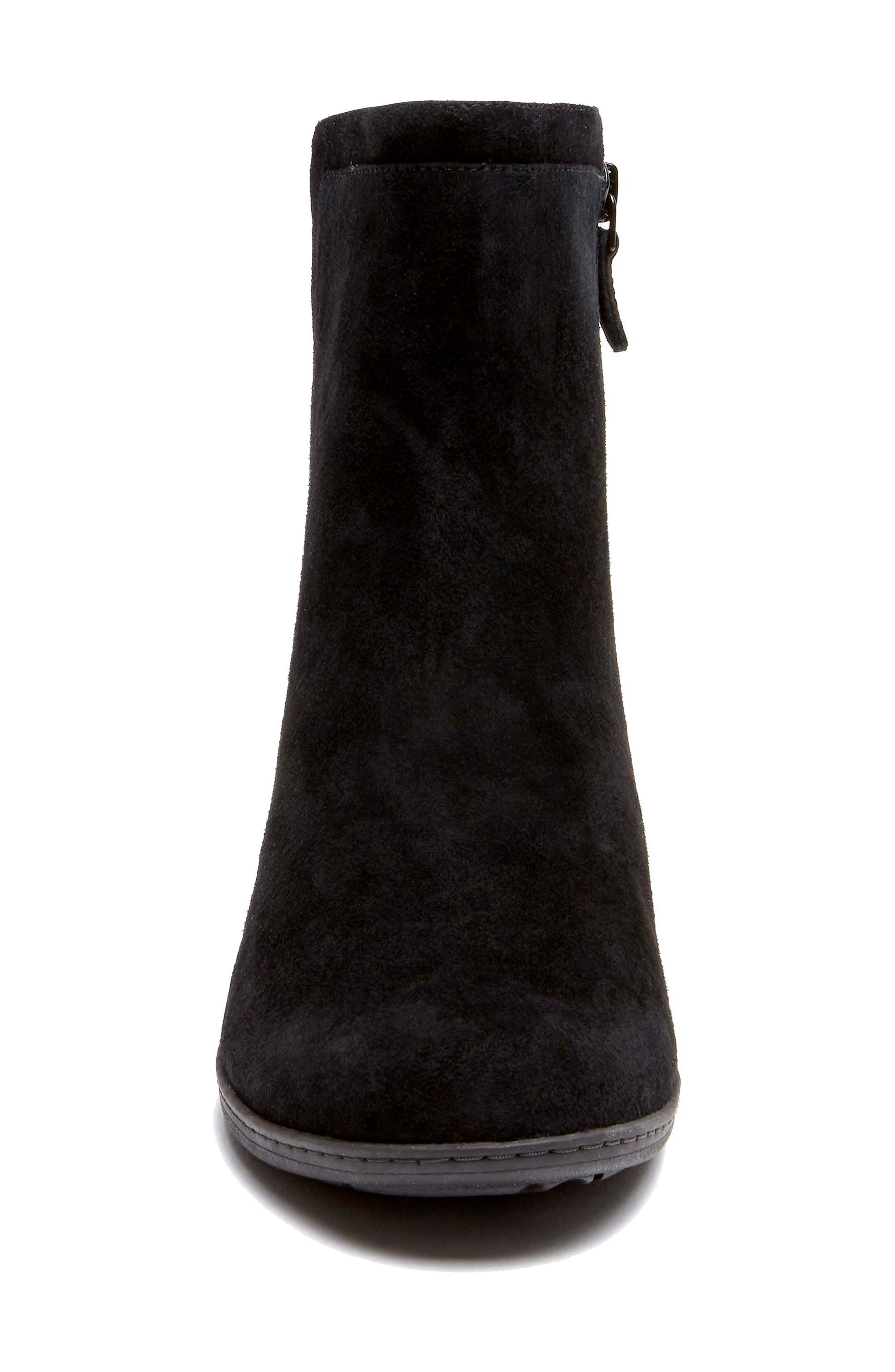 Chaya Bootie,                             Alternate thumbnail 4, color,                             BLACK SUEDE