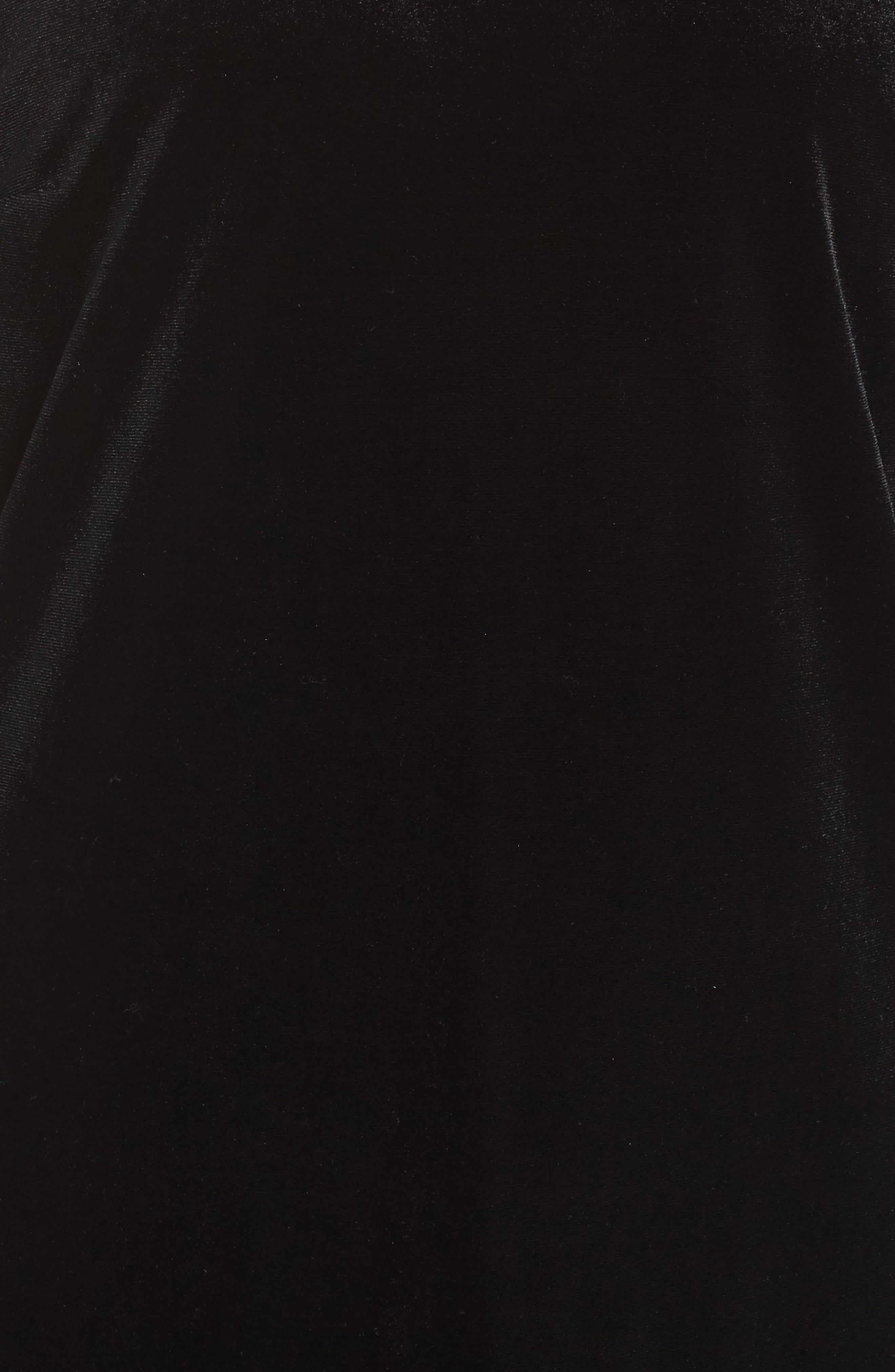Hallie Bell Sleeve Velvet Dress,                             Alternate thumbnail 5, color,                             001