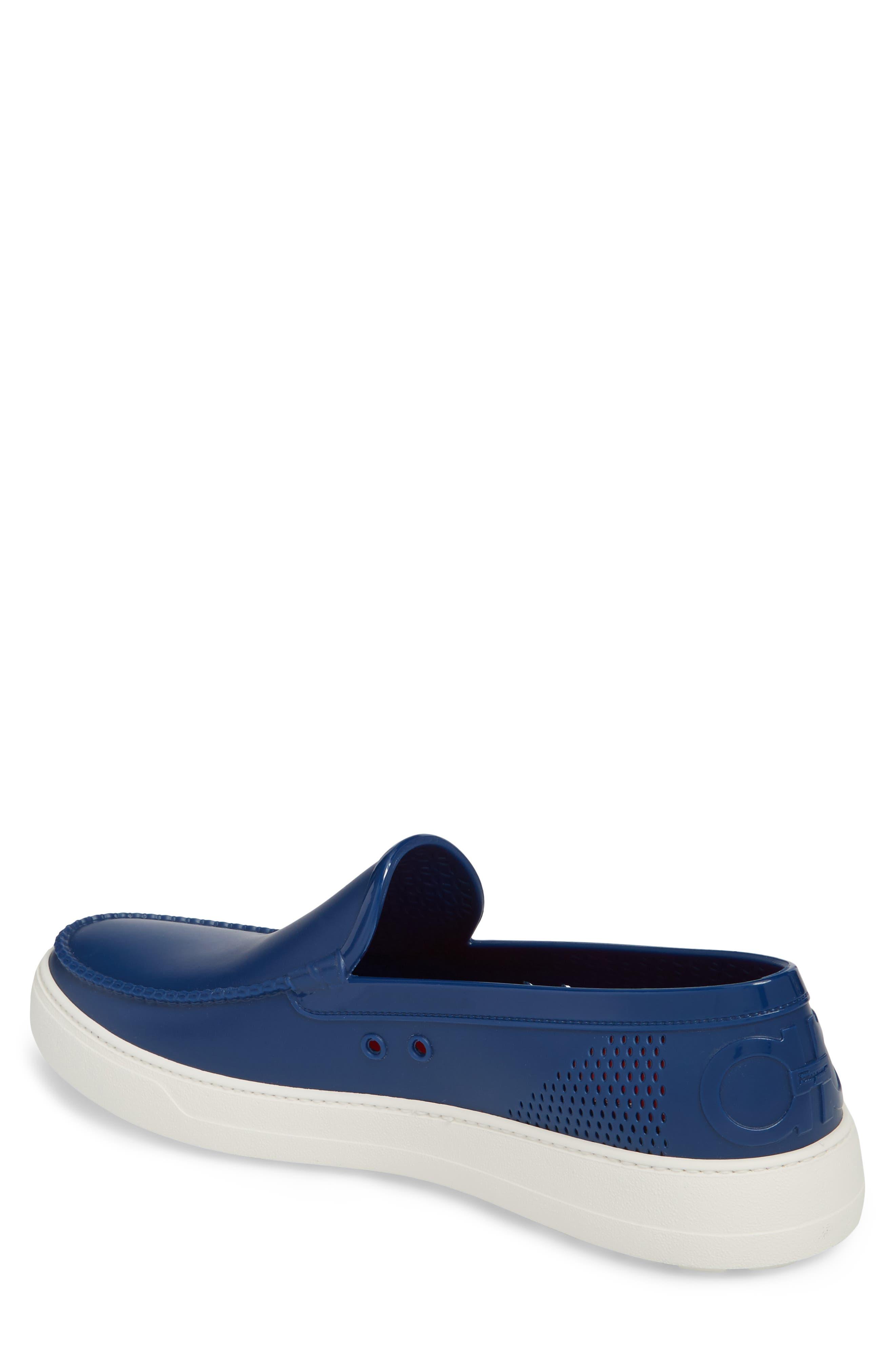 Fury Slip-On Sneaker,                             Alternate thumbnail 2, color,                             JET BLUE LEATHER