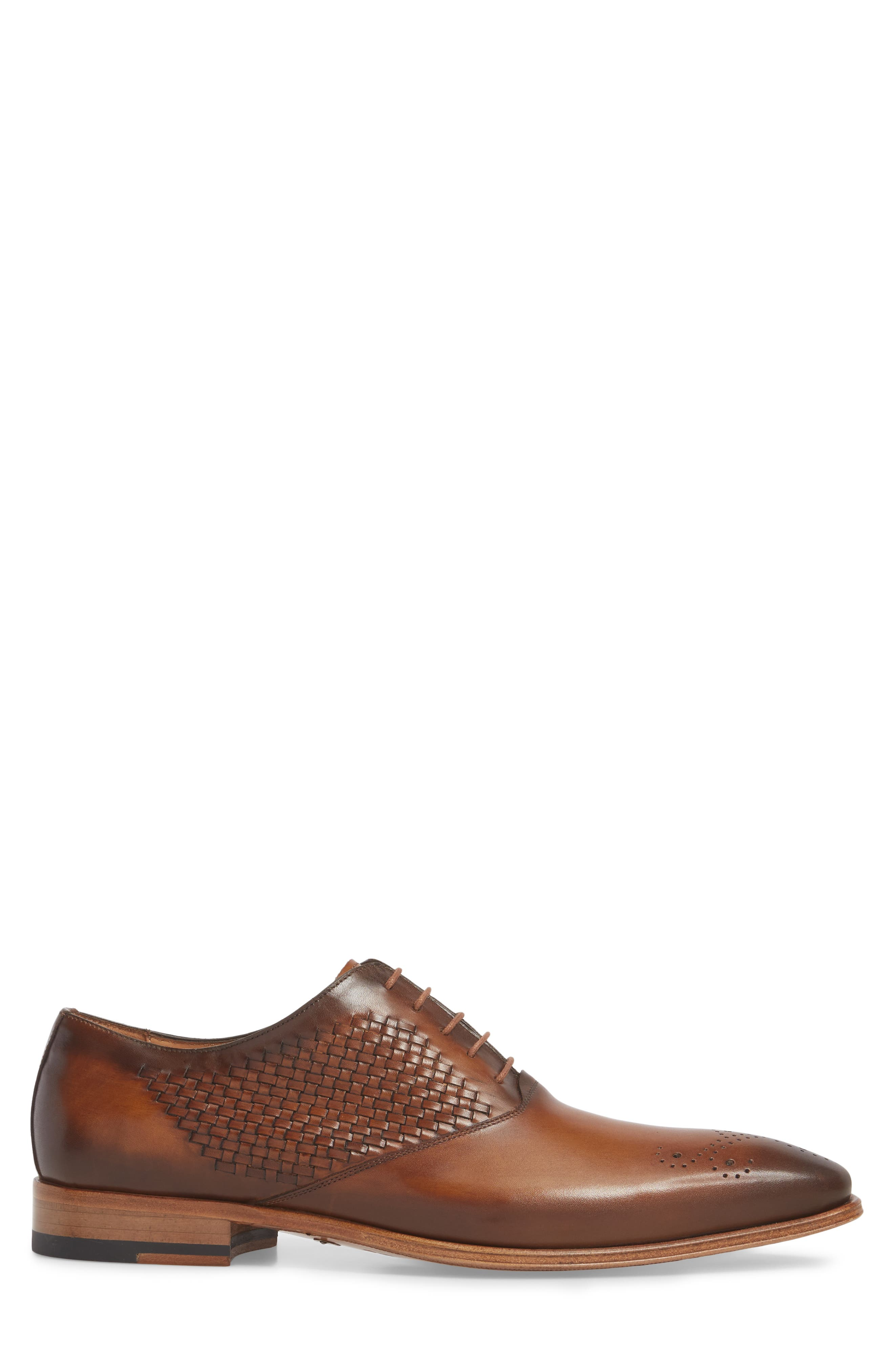 Juventa Woven Oxford,                             Alternate thumbnail 3, color,                             HONEY LEATHER