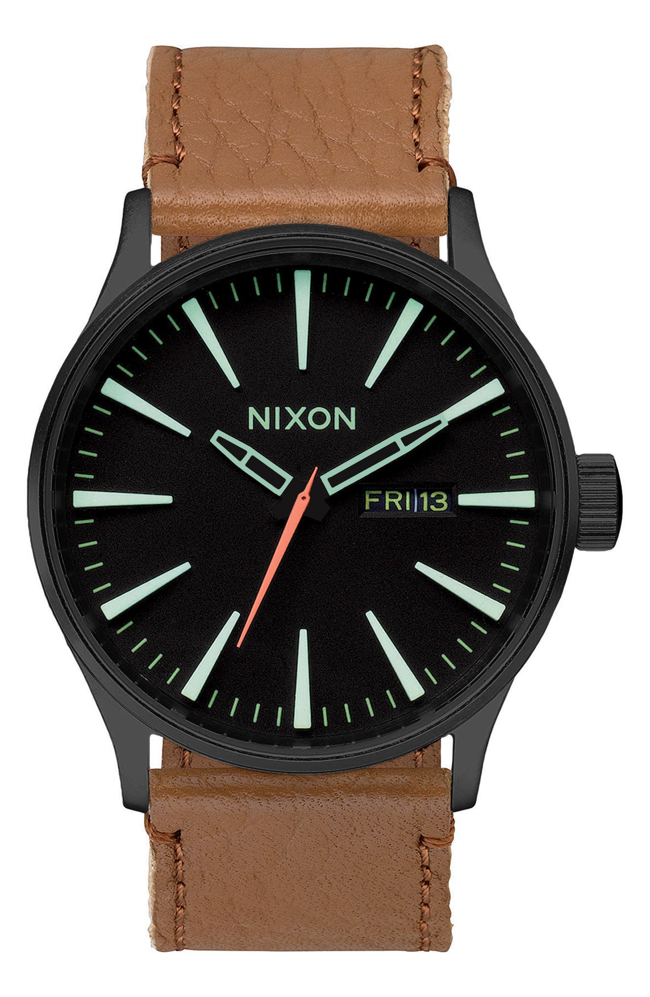 The Sentry Leather Strap Watch, 42mm,                             Alternate thumbnail 41, color,