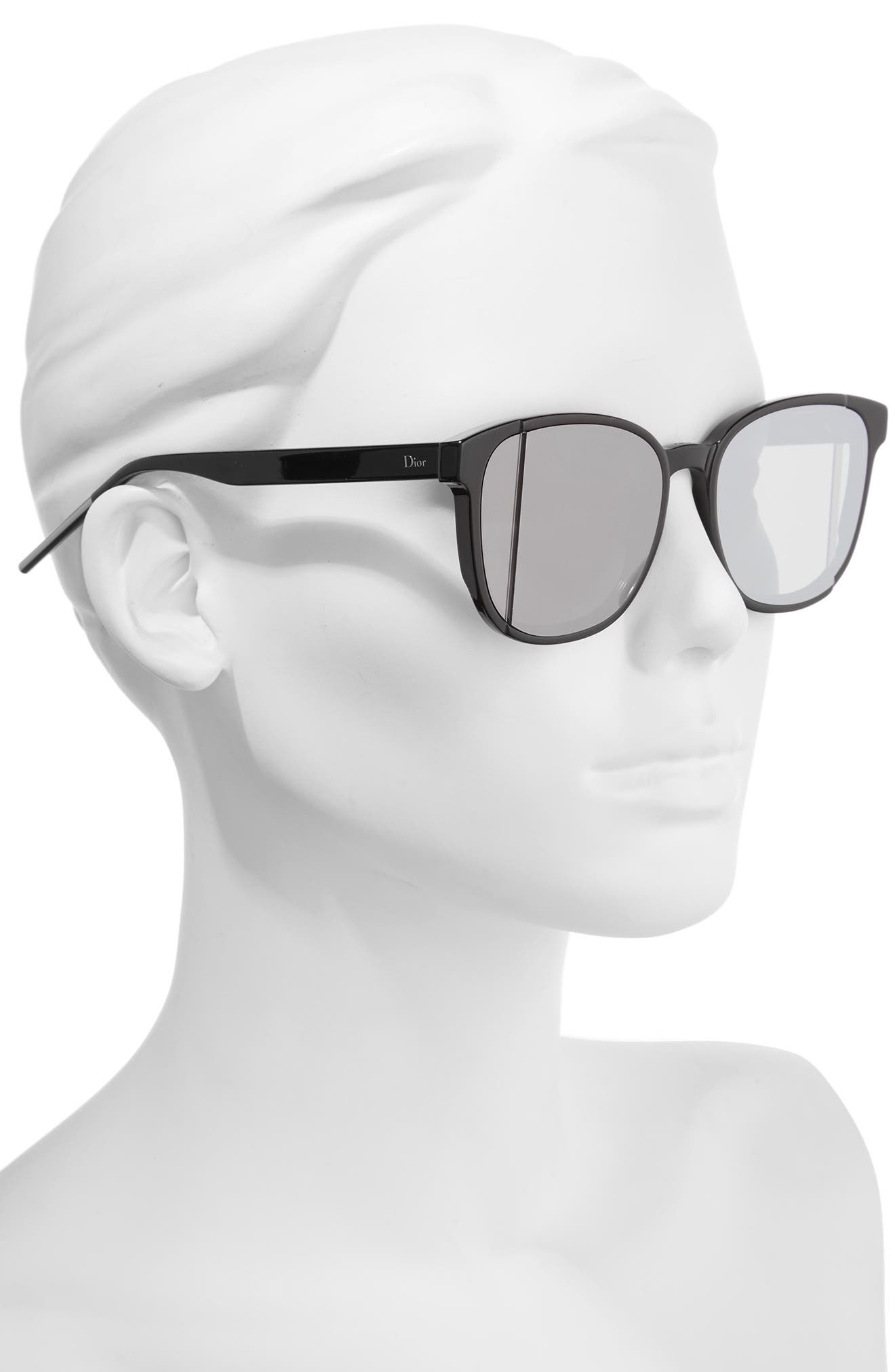Dior Steps 55mm Sunglasses,                             Alternate thumbnail 2, color,                             001