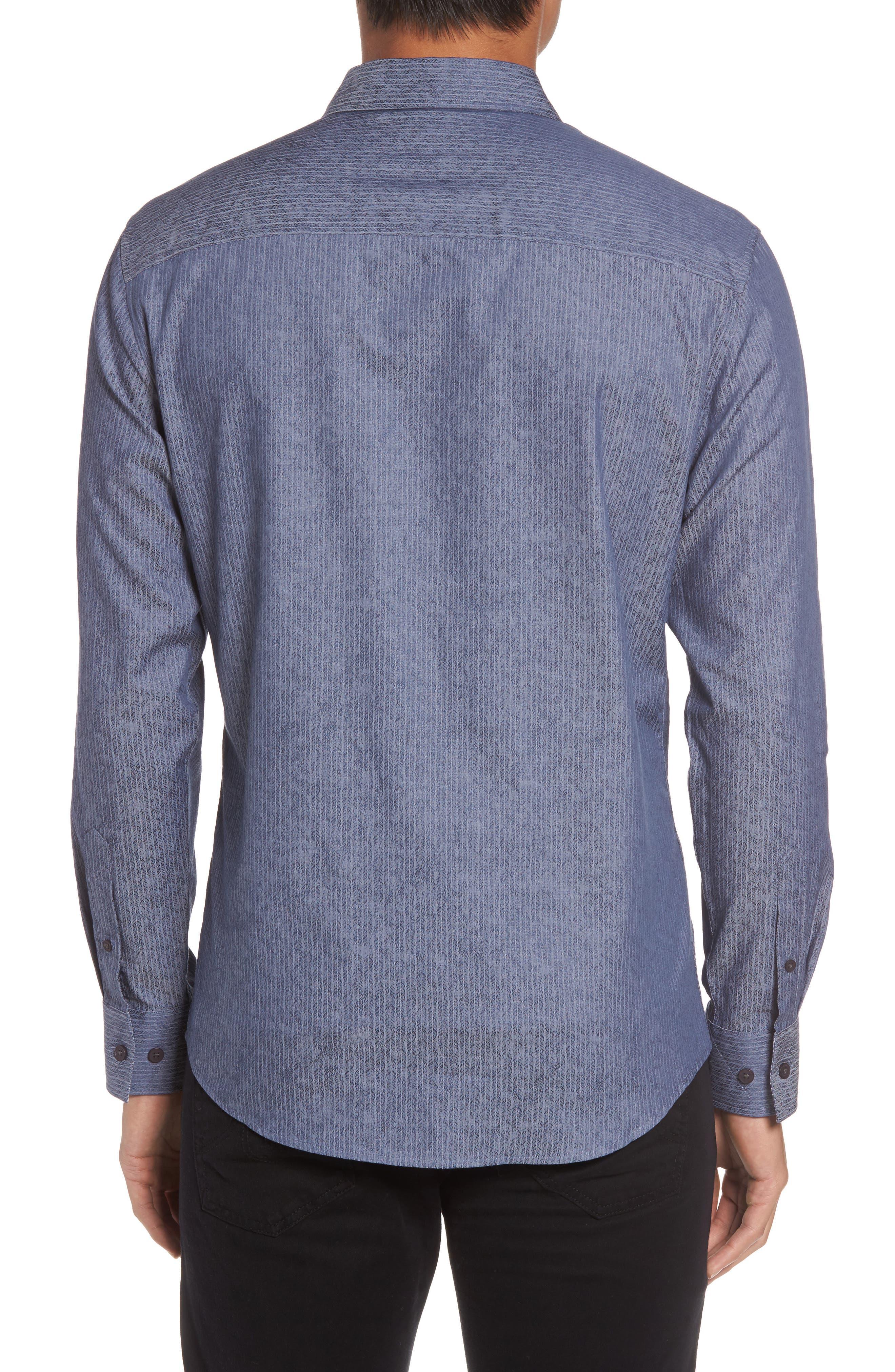 Slim Fit Print Sport Shirt,                             Alternate thumbnail 2, color,                             420