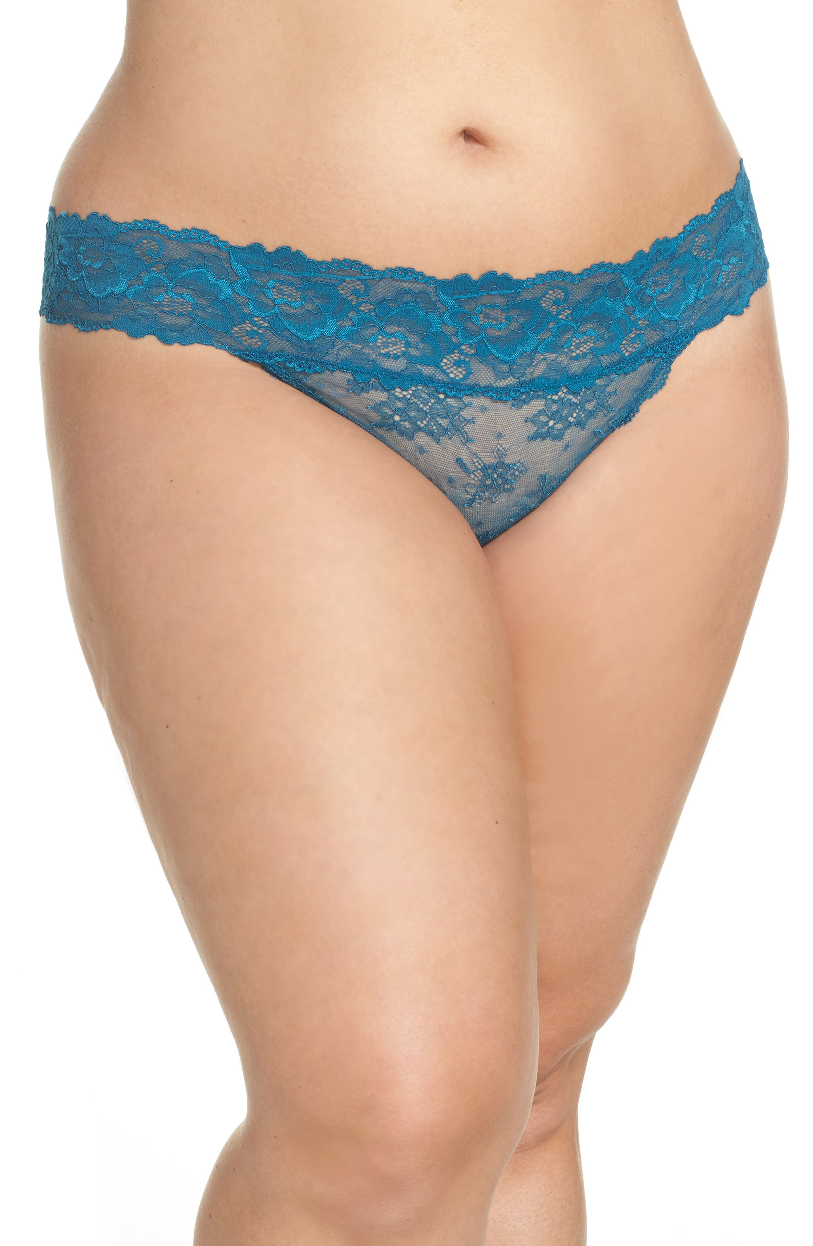 Honeydew Lace Thong,                             Alternate thumbnail 51, color,