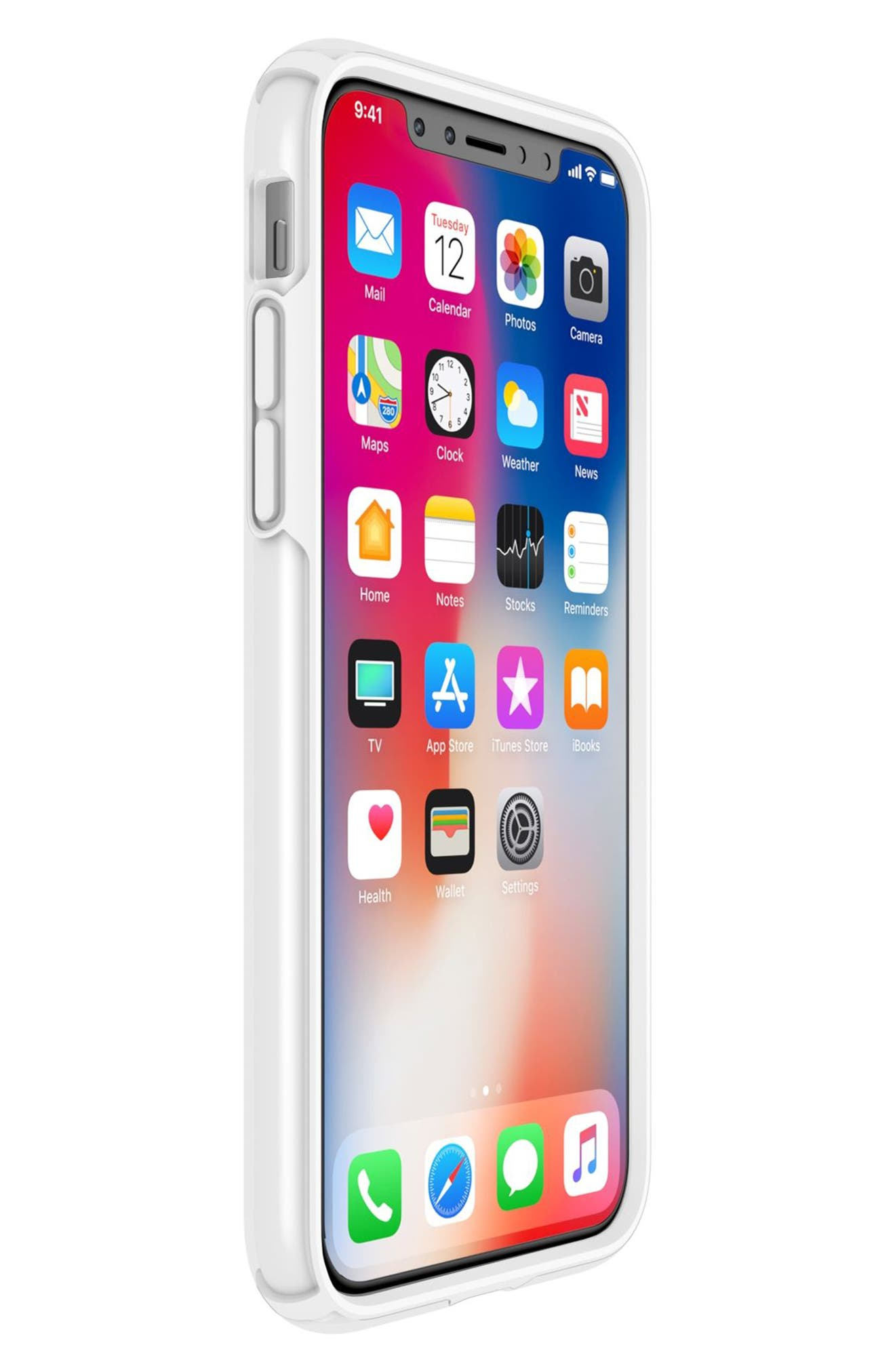 Transparent iPhone X & Xs Case,                             Alternate thumbnail 7, color,                             CLEAR/ BRIGHT WHITE