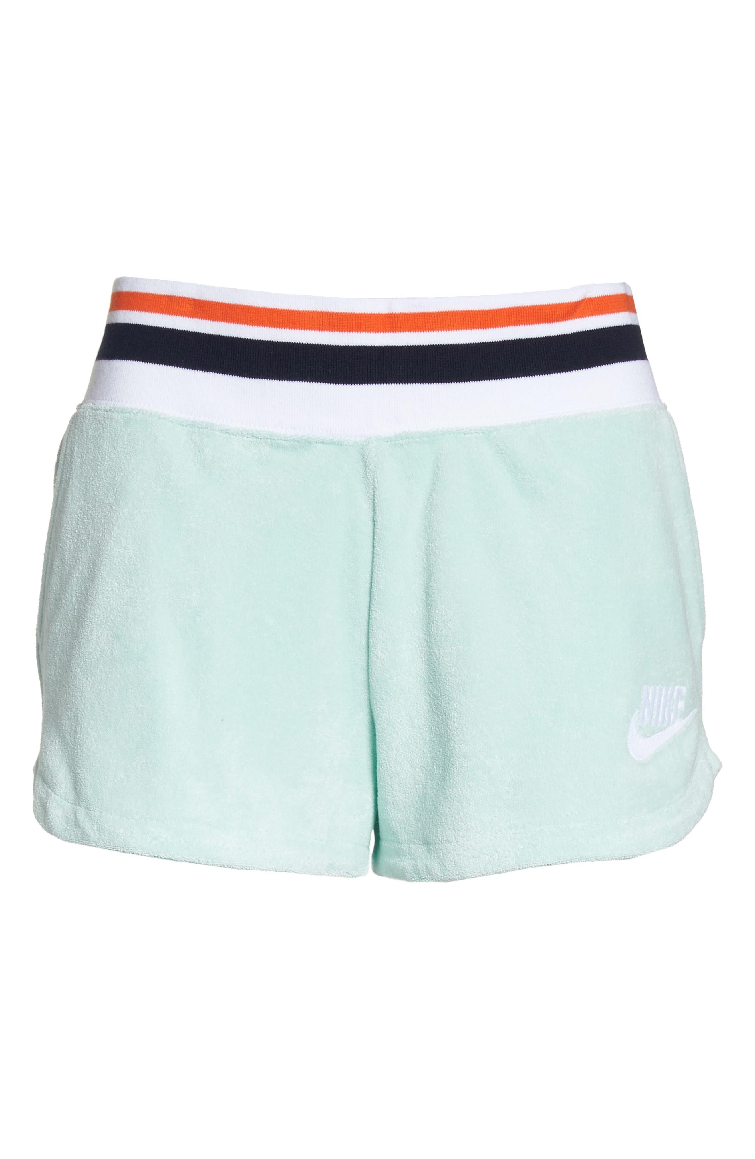 NIKE,                             Sportswear Terry Shorts,                             Alternate thumbnail 7, color,                             401