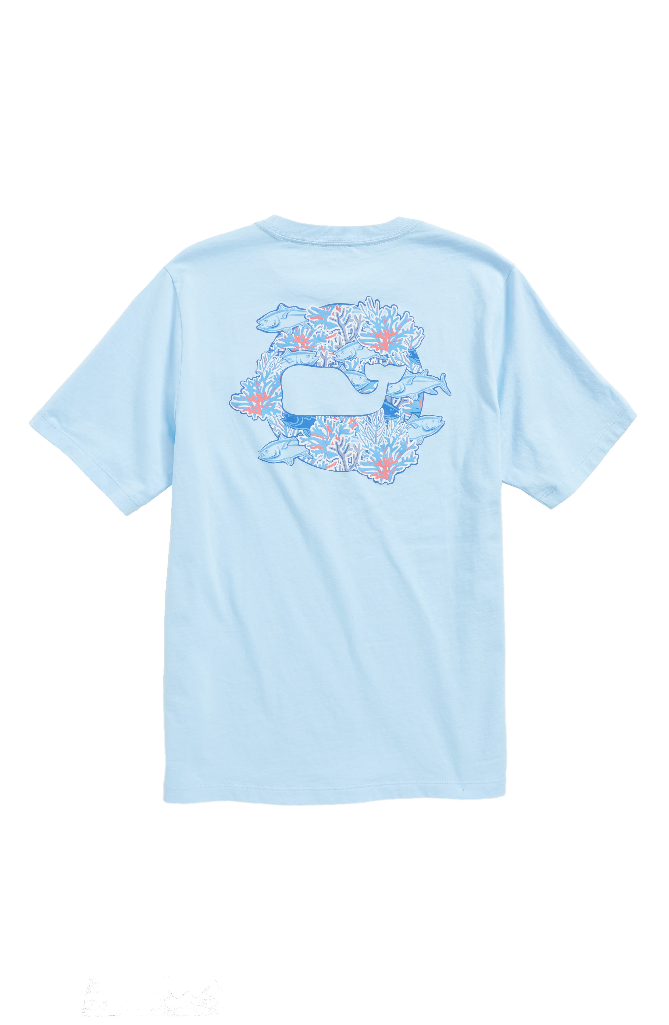 Tuna in Coral Whale Pocket T-Shirt,                             Alternate thumbnail 2, color,