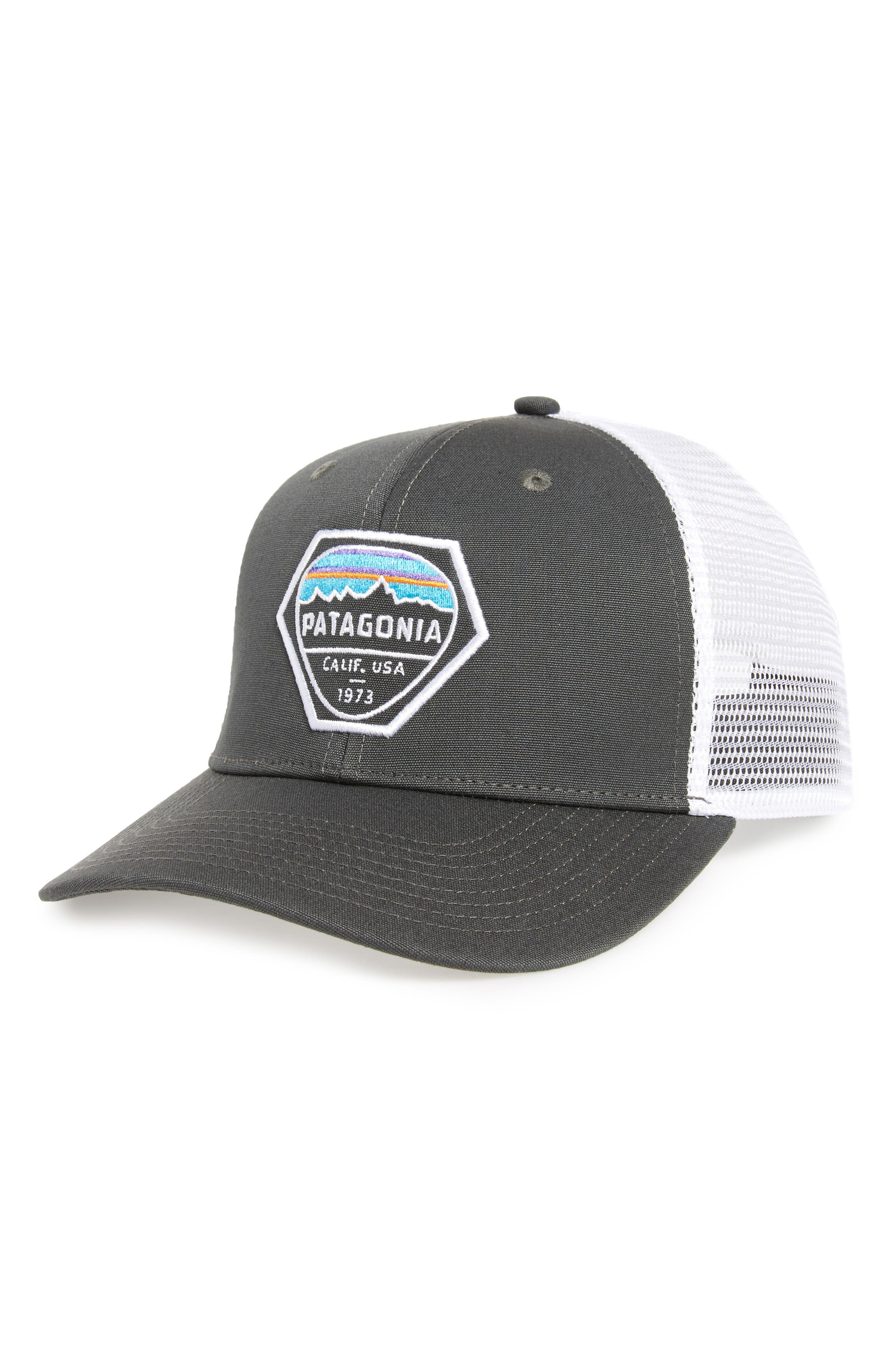 Fitz Roy Hex Trucker Cap,                             Main thumbnail 1, color,                             020
