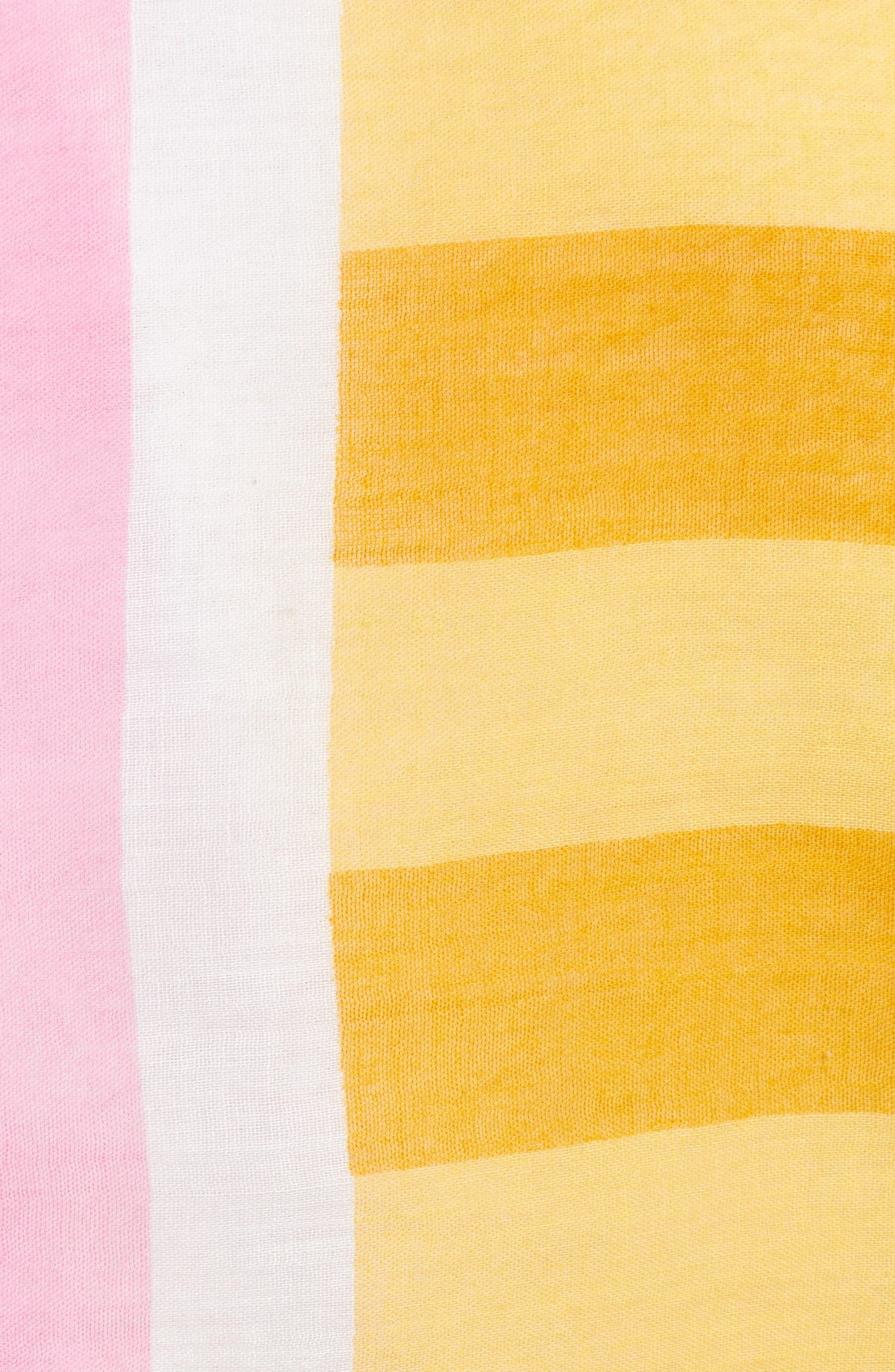 Fes Stripe Scarf,                             Alternate thumbnail 5, color,                             GOLD/PINK/CREAM