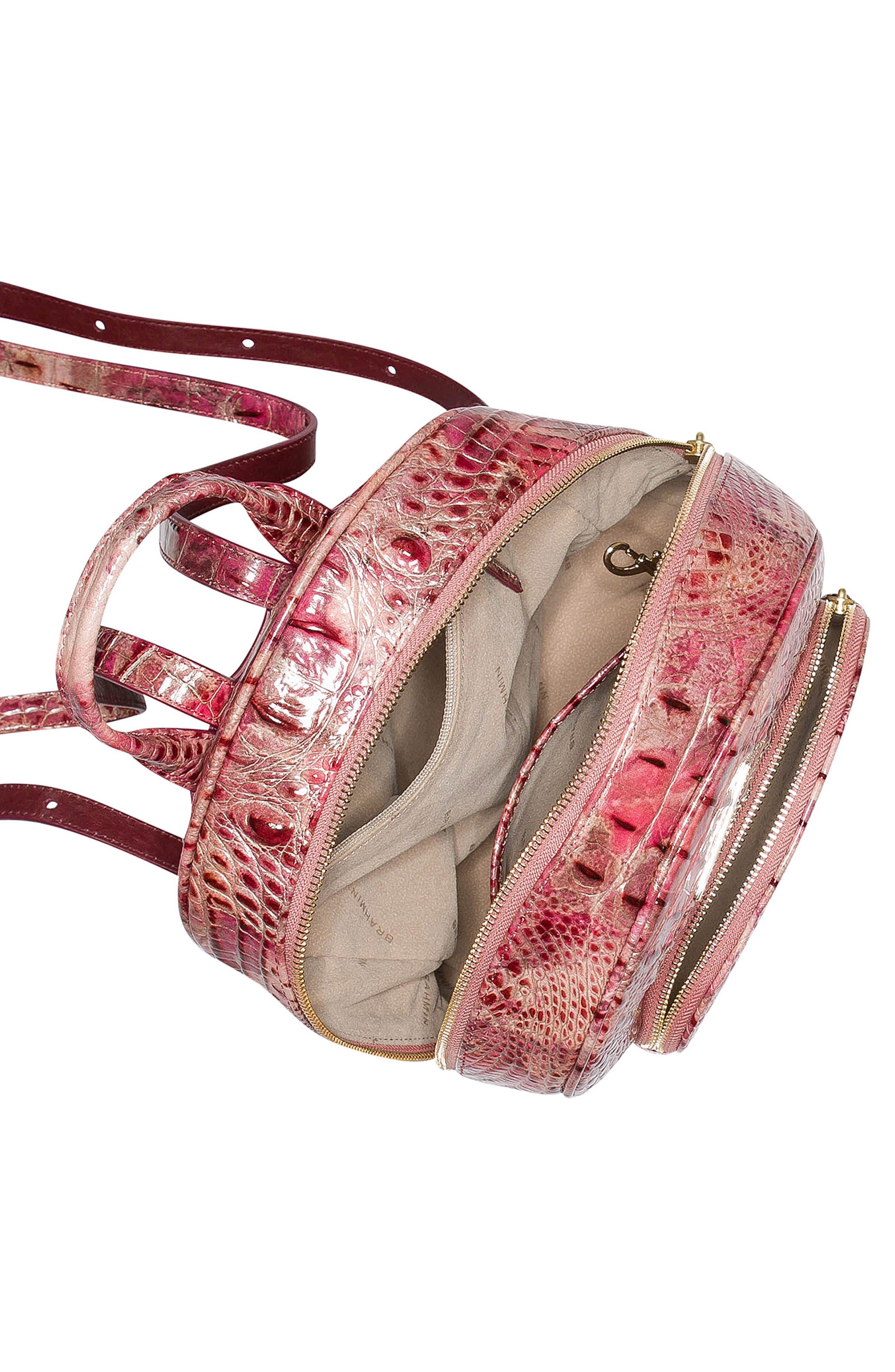 Mini Dartmouth Leather Backpack,                             Alternate thumbnail 4, color,                             WISTERIA