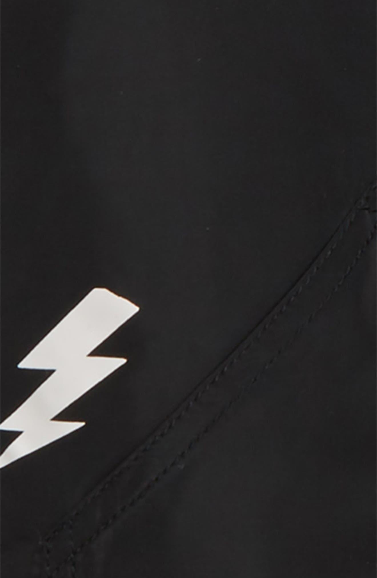 Lightning Bomber Jacket,                             Alternate thumbnail 2, color,                             BLACK / WHITE