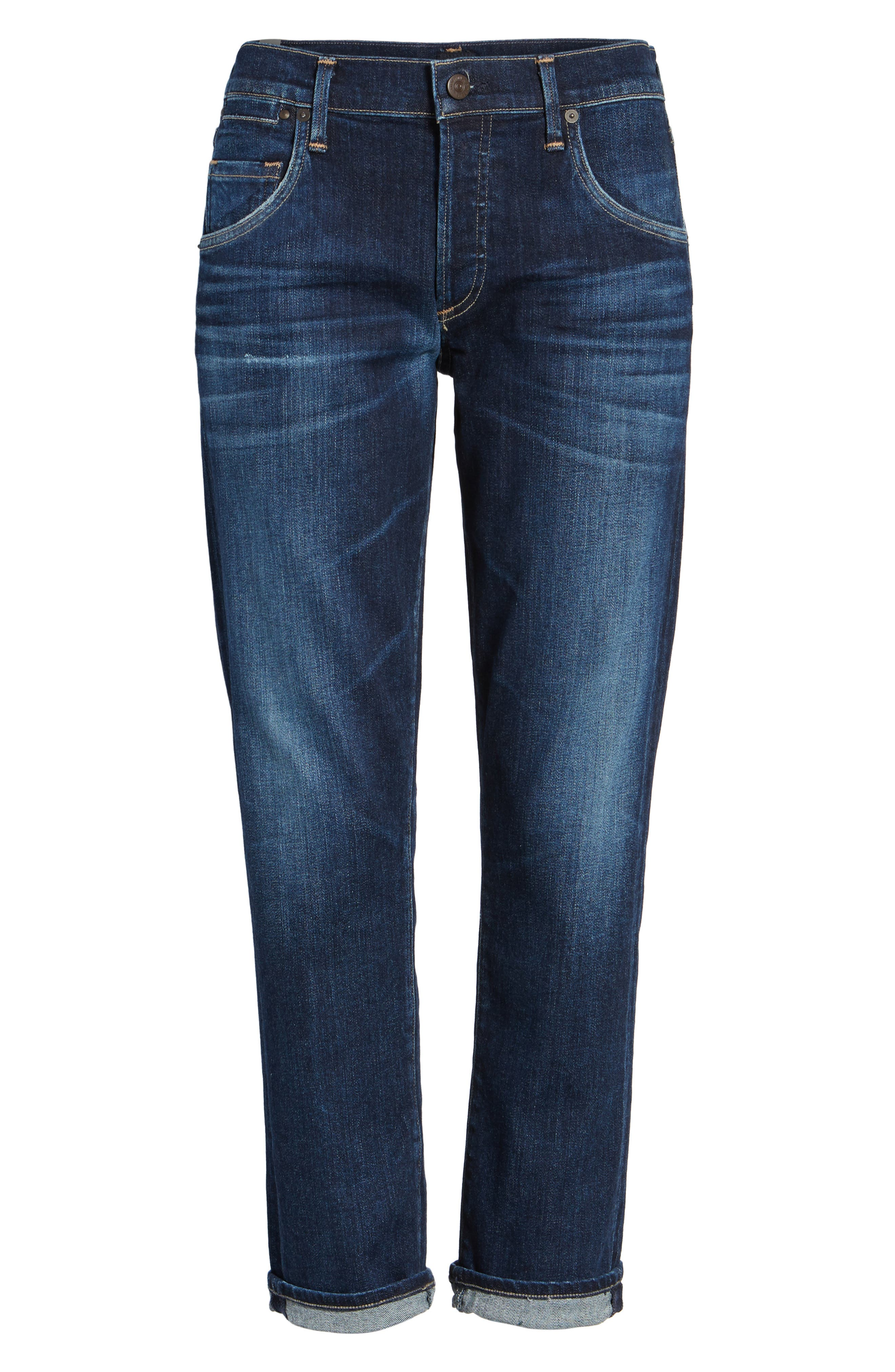 CITIZENS OF HUMANITY Emerson Slim Boyfriend Jeans, Main, color, BLUE RIDGE