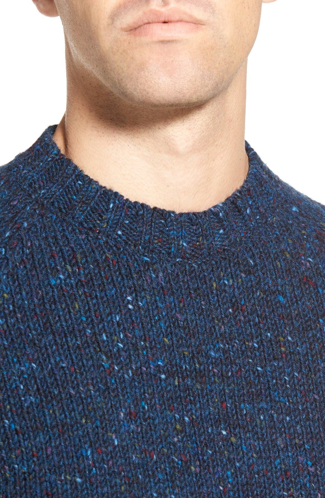 'Netherby' Kilcara Tweed Crewneck Sweater,                             Alternate thumbnail 3, color,                             400