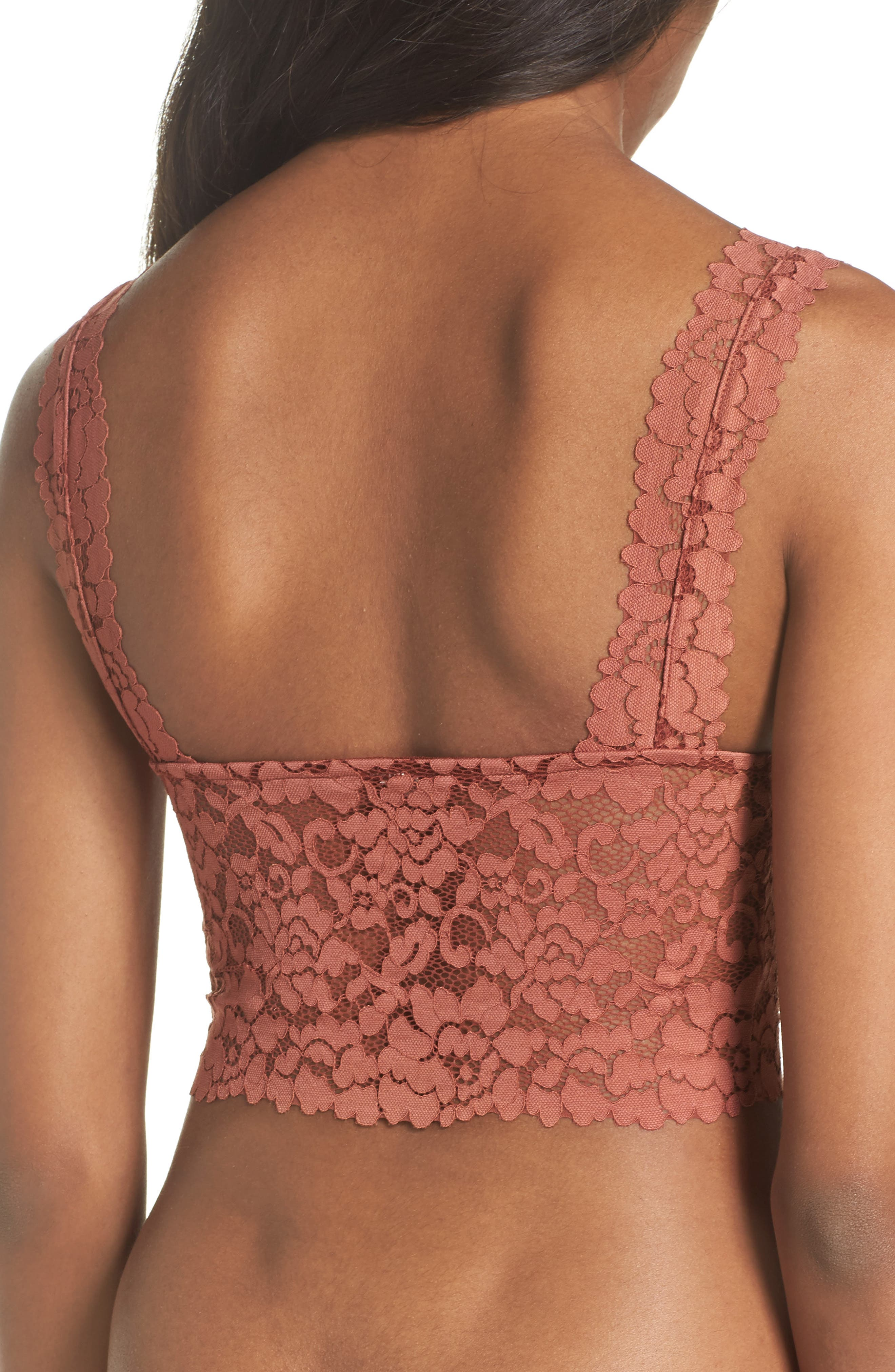 Intimately FP Dream Away Lace Longline Underwire Bralette,                             Alternate thumbnail 5, color,
