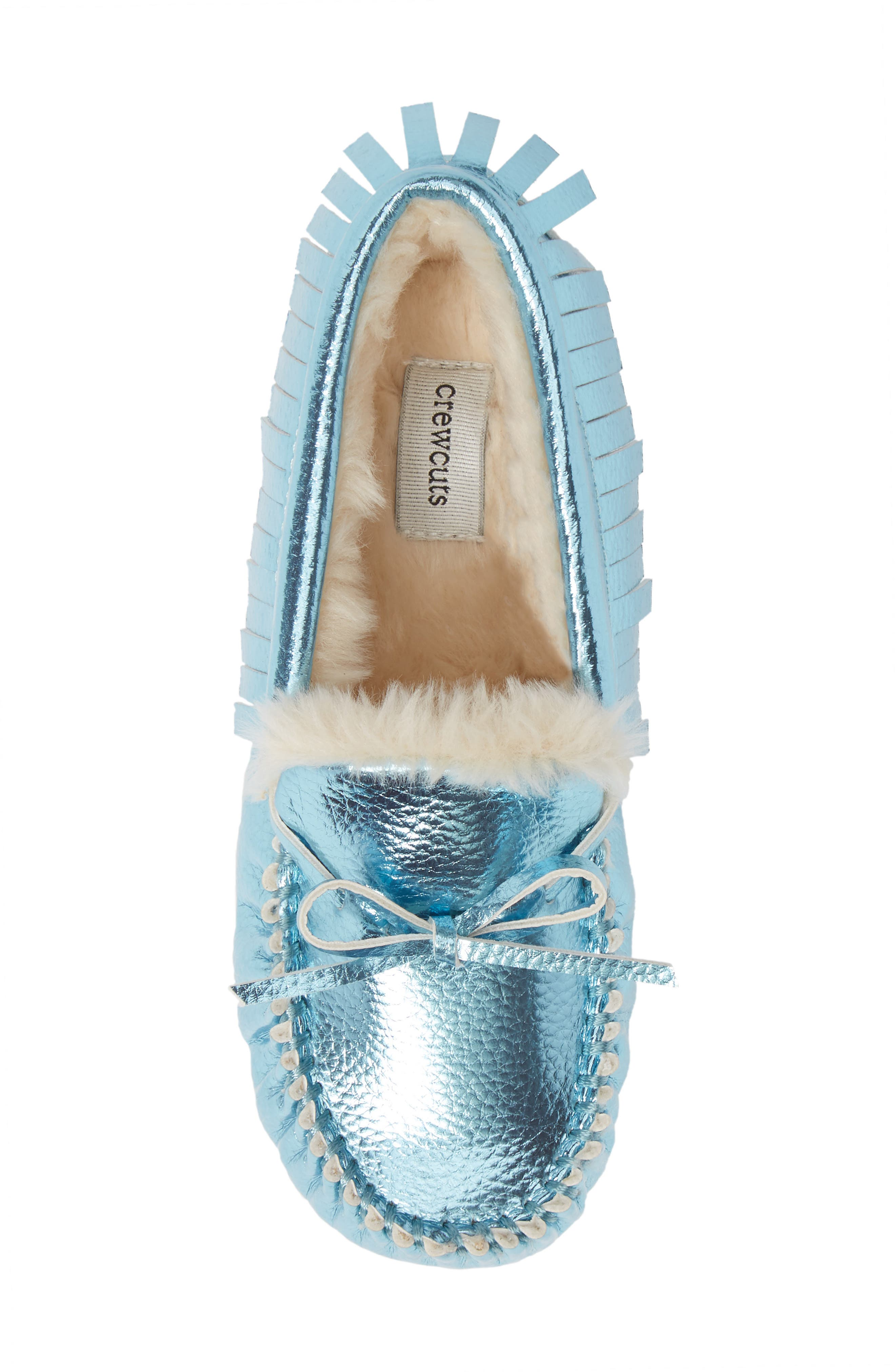 CREWCUTS BY J.CREW,                             Metallic Moccasin,                             Alternate thumbnail 5, color,                             FADED SKY