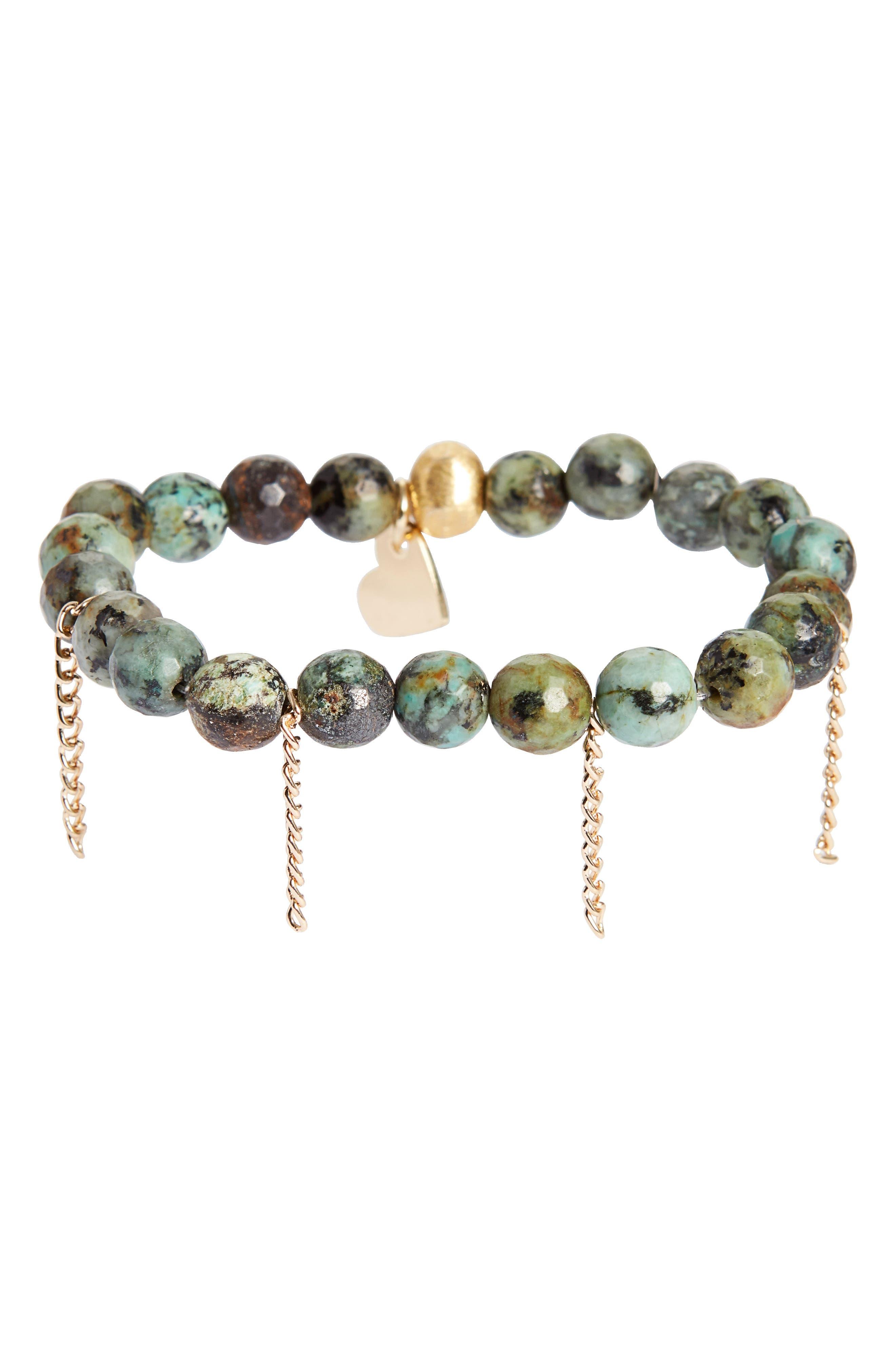 Love's Affect Devyn Semiprecious Stretch Bracelet,                         Main,                         color, 300