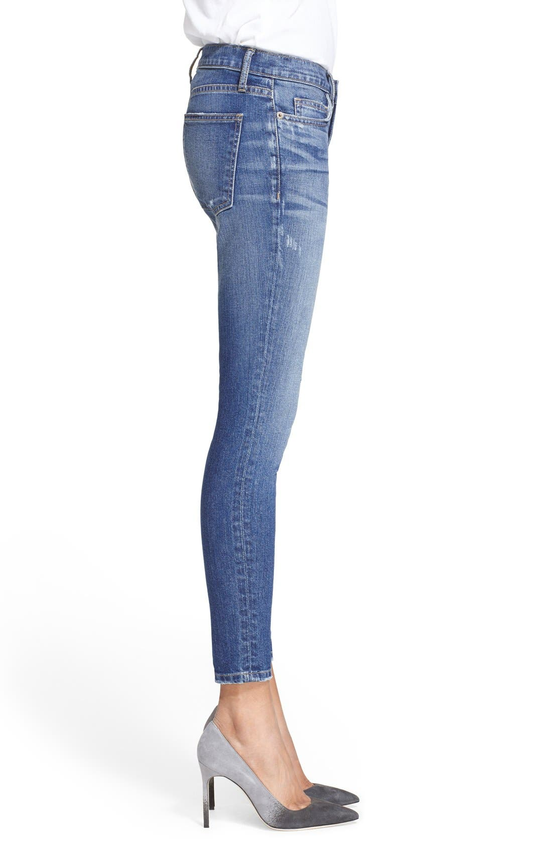 'The Stiletto' Destroyed Skinny Jeans,                             Alternate thumbnail 32, color,