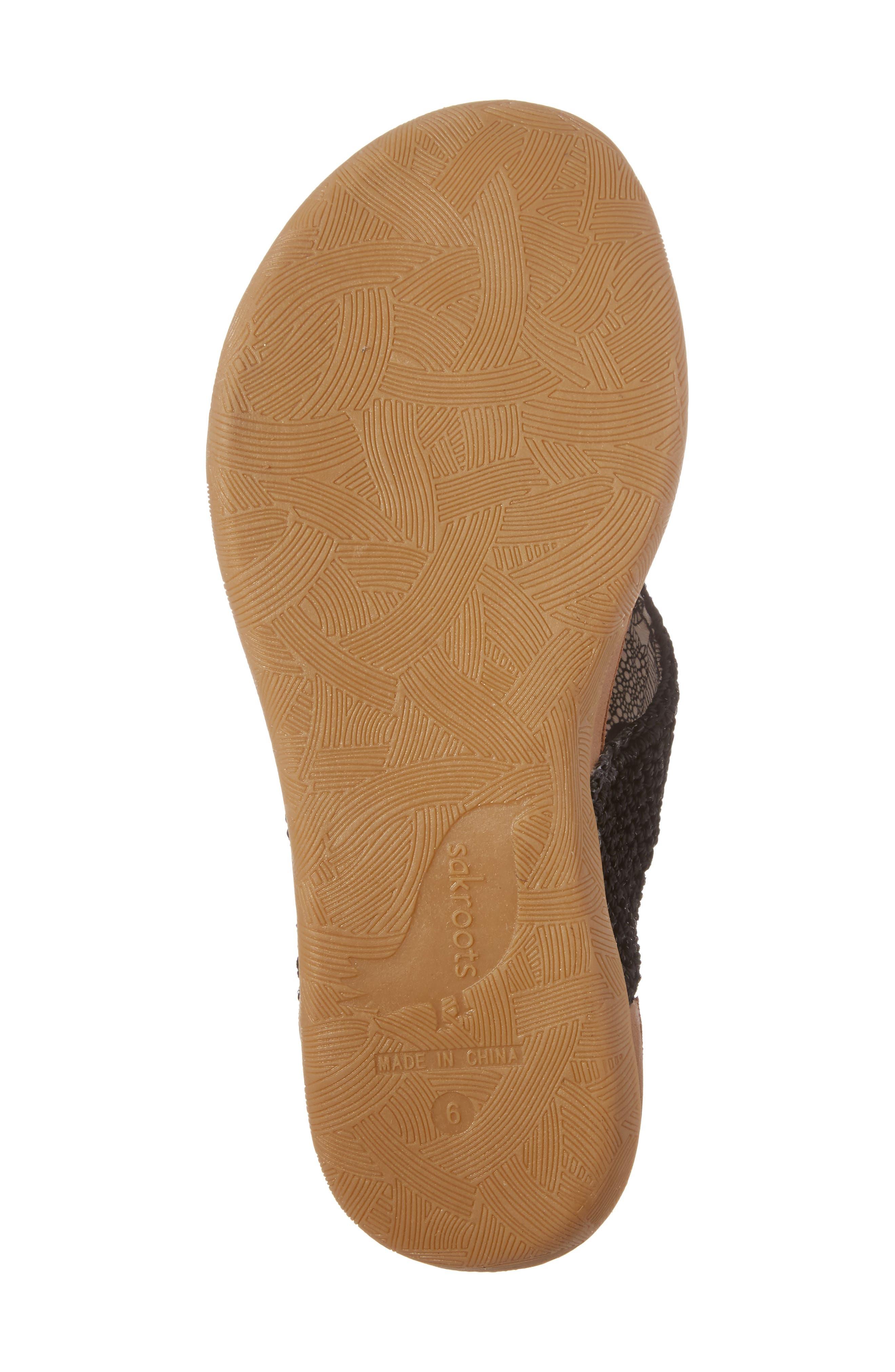 Sarria Flip Flop,                             Alternate thumbnail 6, color,                             BLACK SPARKLE FABRIC