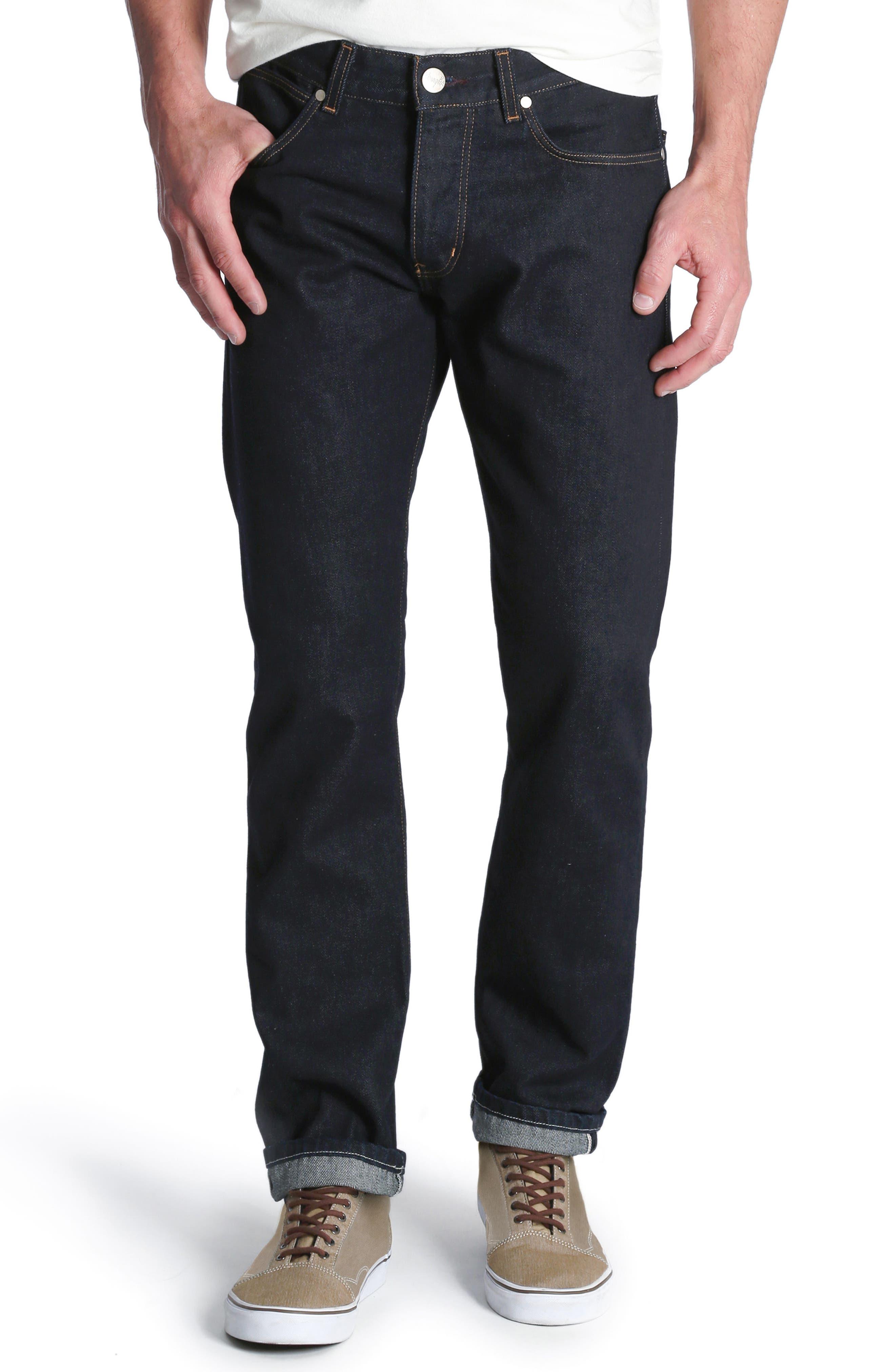Spencer Selvedge Slim Straight Leg Jeans, Main, color, 468