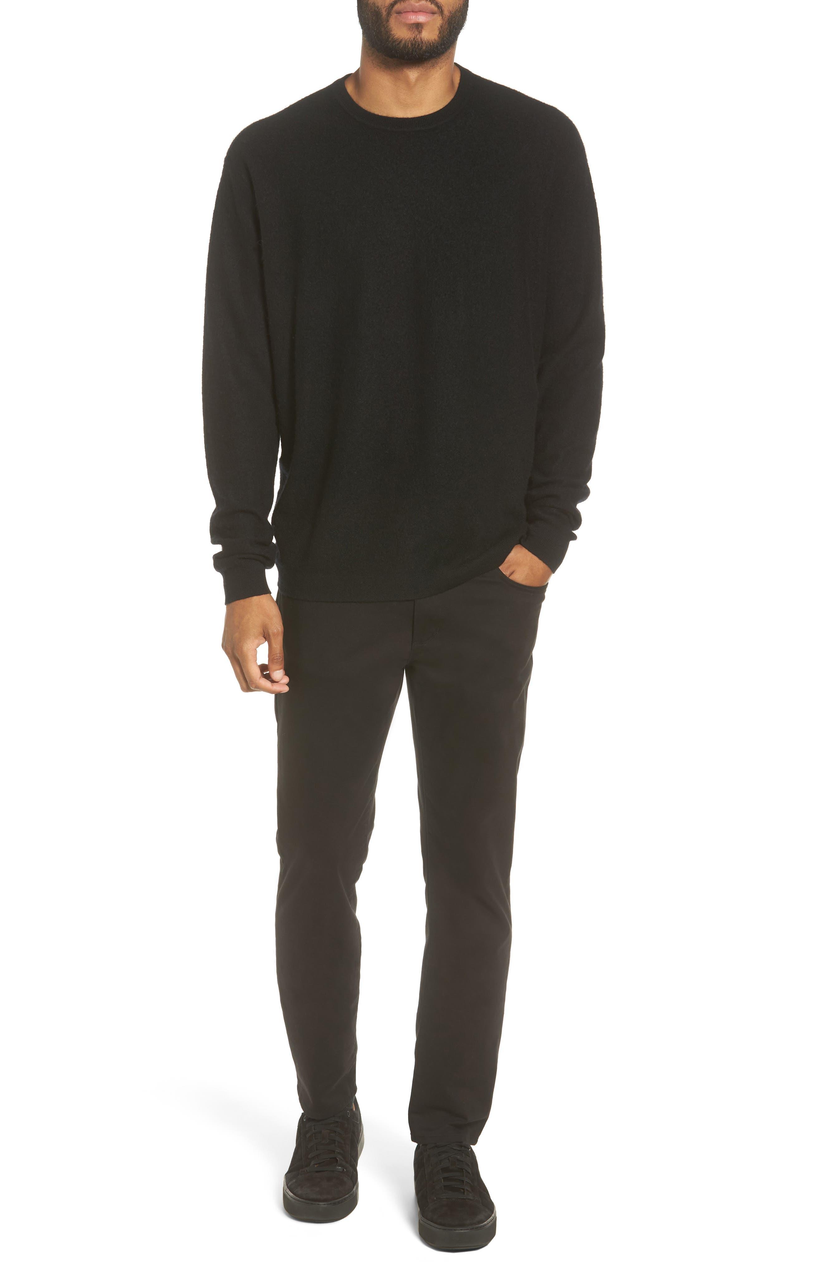 Cashmere Crewneck Sweater,                             Alternate thumbnail 7, color,                             001