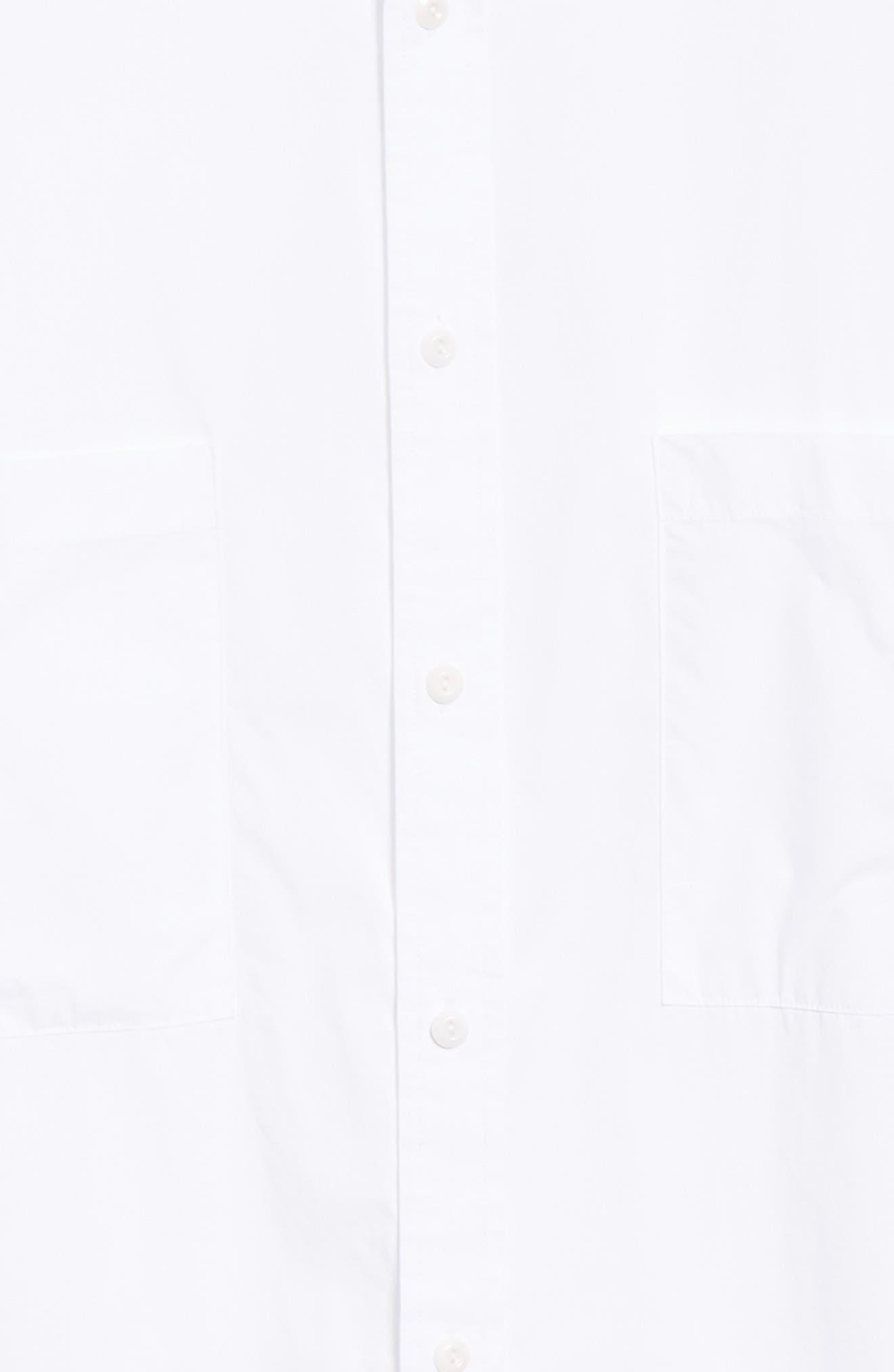 Shiro Oversize Pockets Regular Fit Sport Shirt,                             Alternate thumbnail 6, color,                             TRUE WHITE