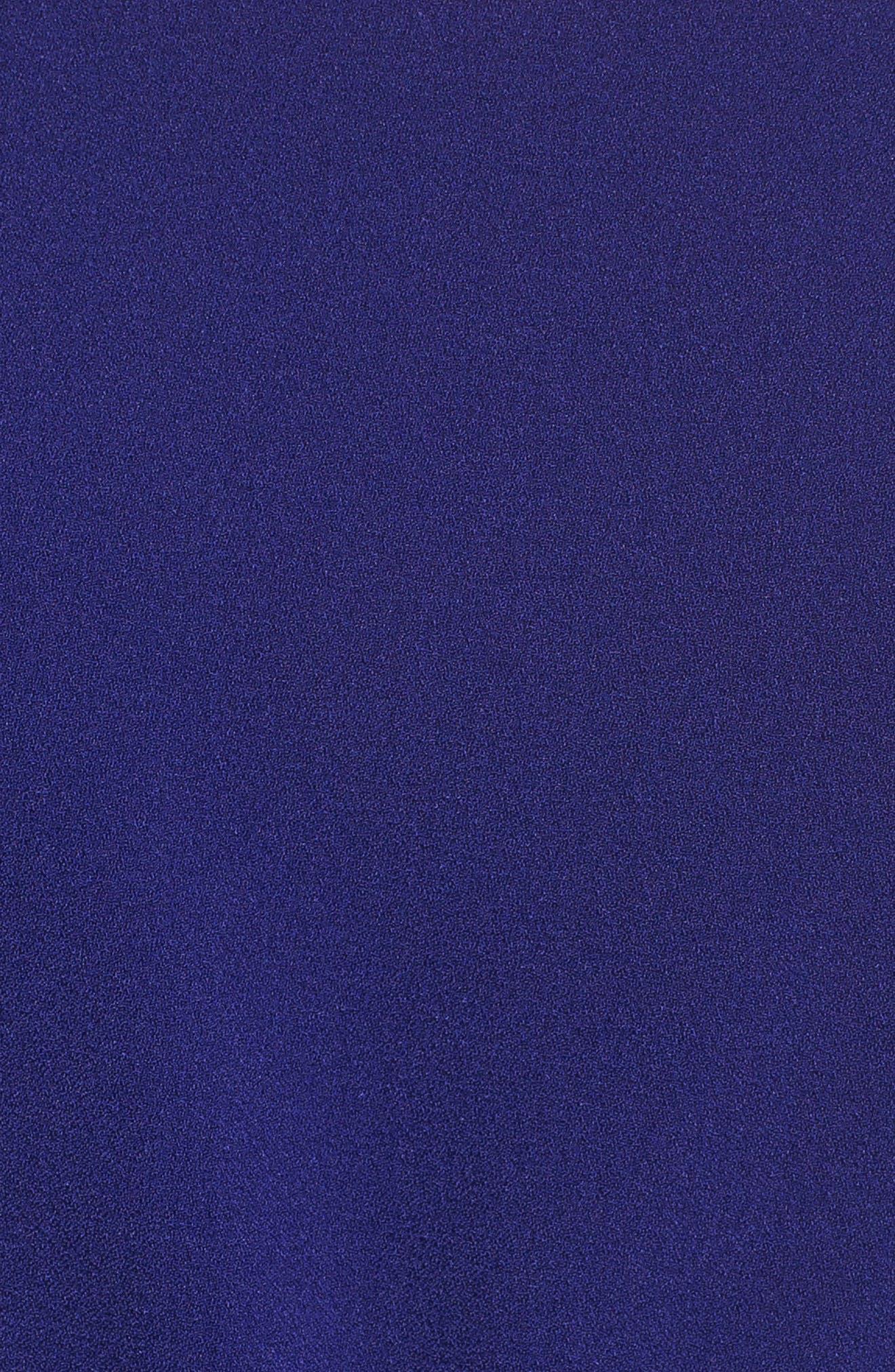 ELIZA J,                             Off the Shoulder Bell Sleeve Slim Leg Jumpsuit,                             Alternate thumbnail 5, color,                             COBALT