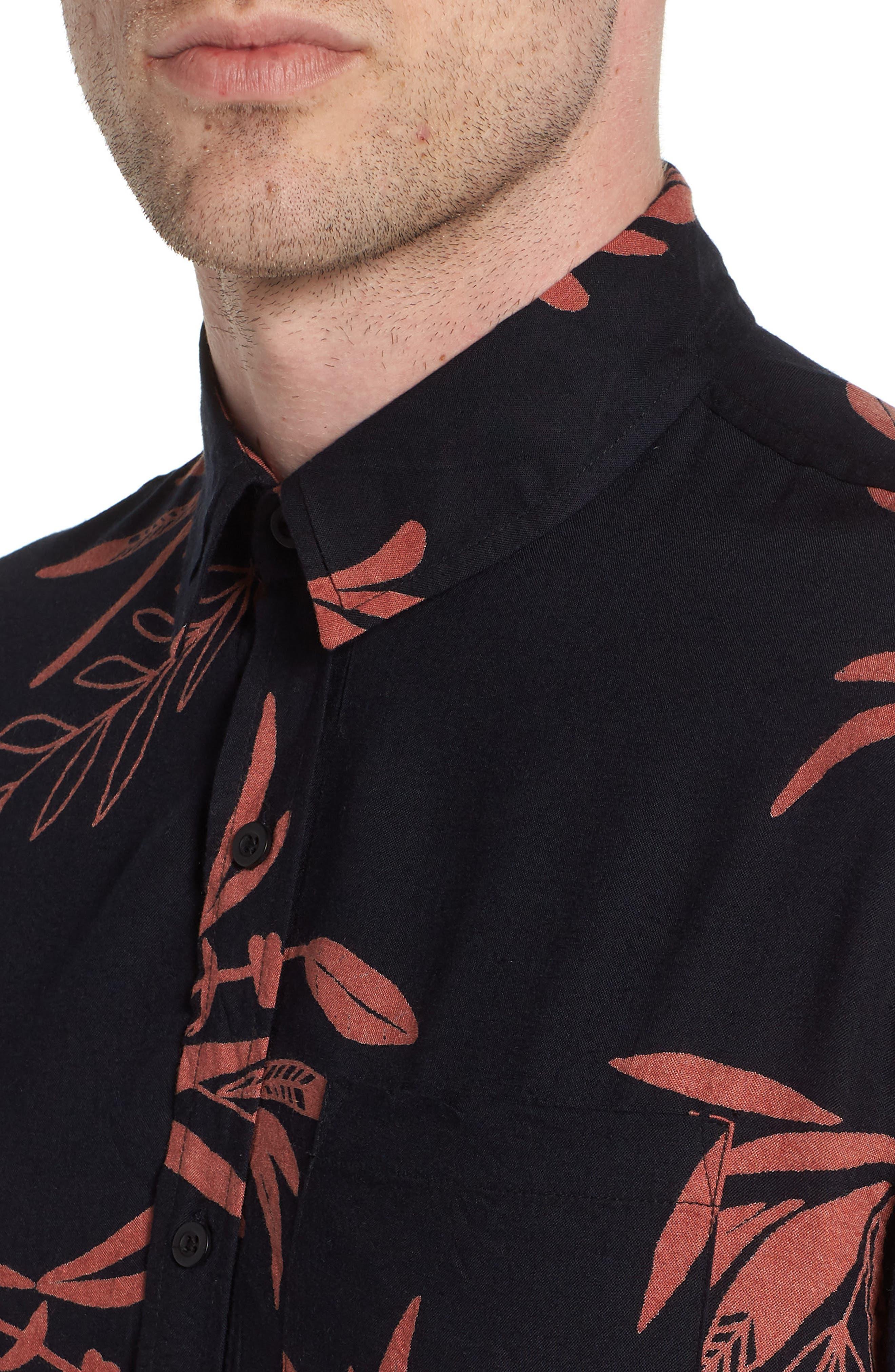 Simmer Short Sleeve Shirt,                             Alternate thumbnail 4, color,                             001
