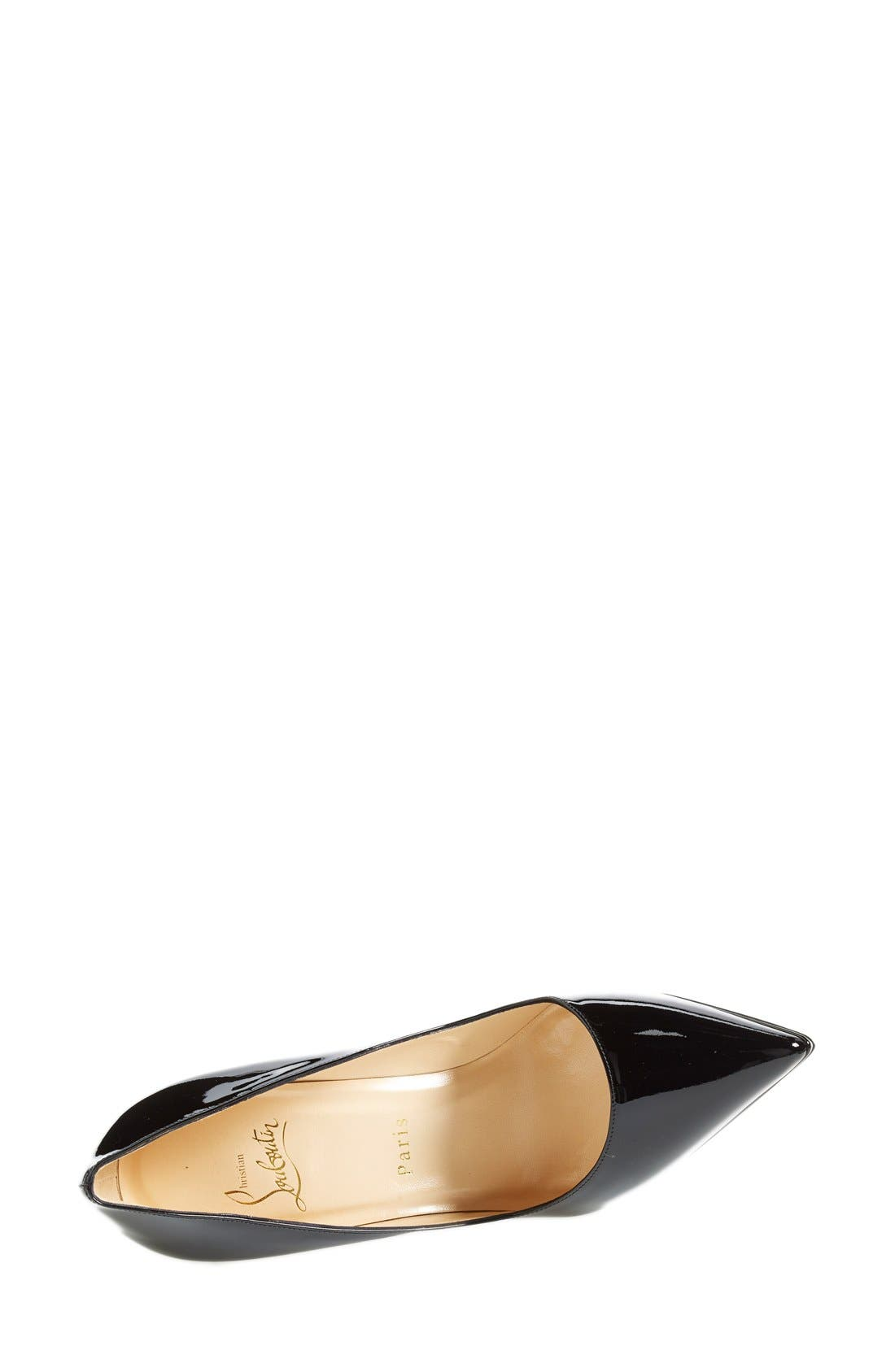 'Pigalle Plato' Pointy Toe Pump,                             Alternate thumbnail 3, color,