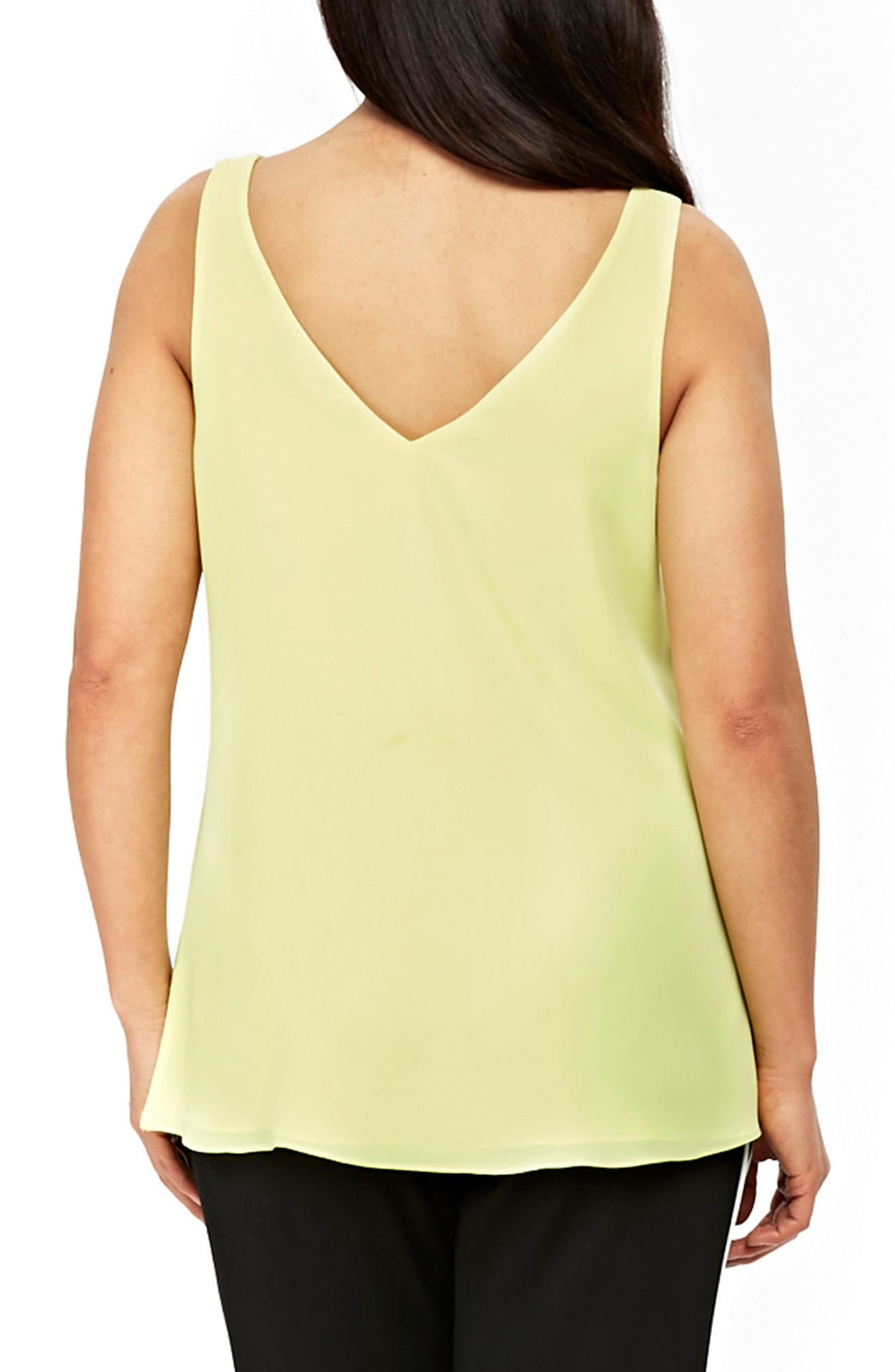 V-neck Camisole Top,                             Alternate thumbnail 2, color,                             LIME
