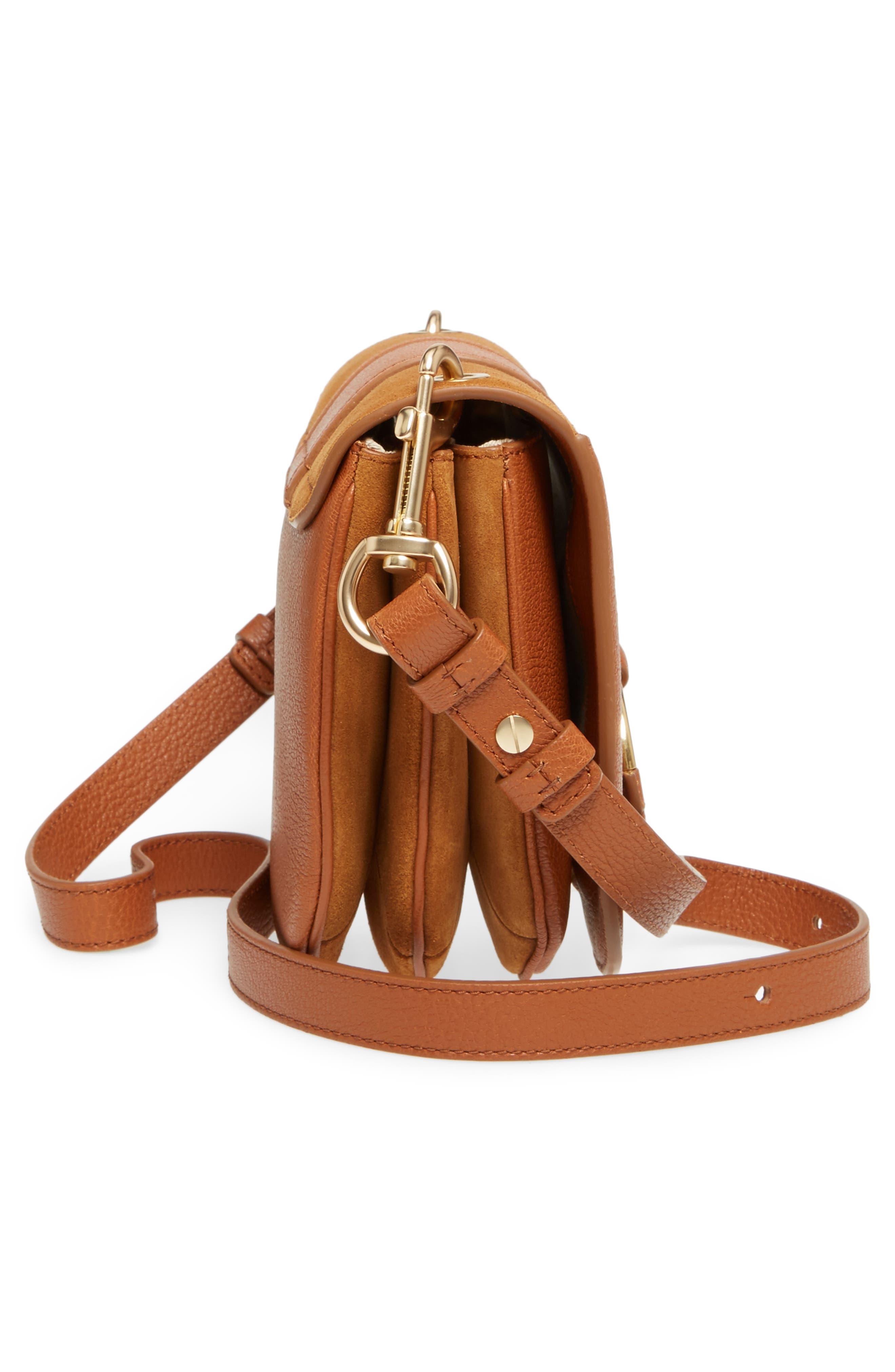 Hana Small Leather Crossbody Bag,                             Alternate thumbnail 25, color,