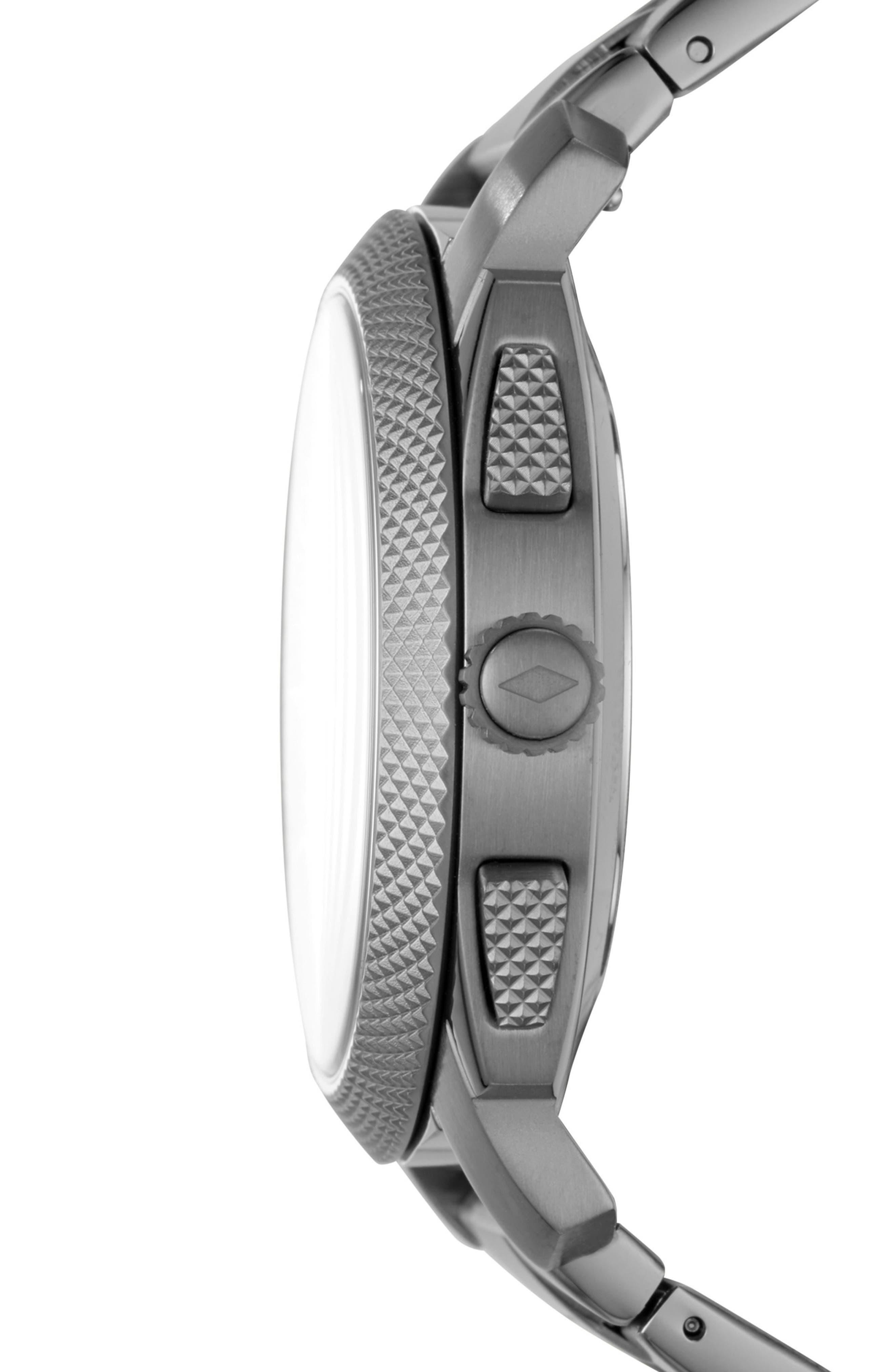 Machine Bracelet Hybrid Smart Watch, 45mm,                             Alternate thumbnail 3, color,                             GREY