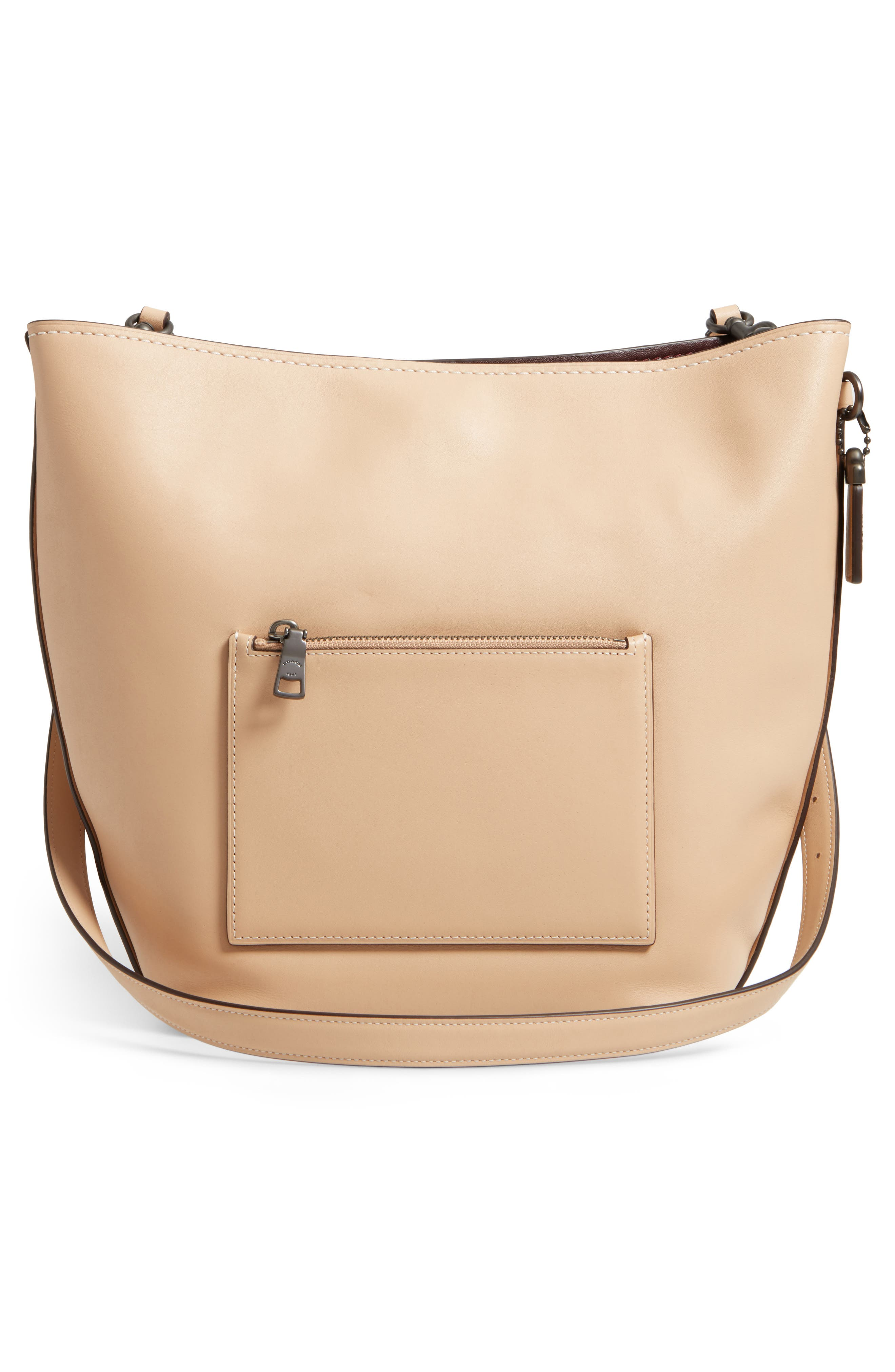 Linked Leather Tote,                             Alternate thumbnail 3, color,                             249