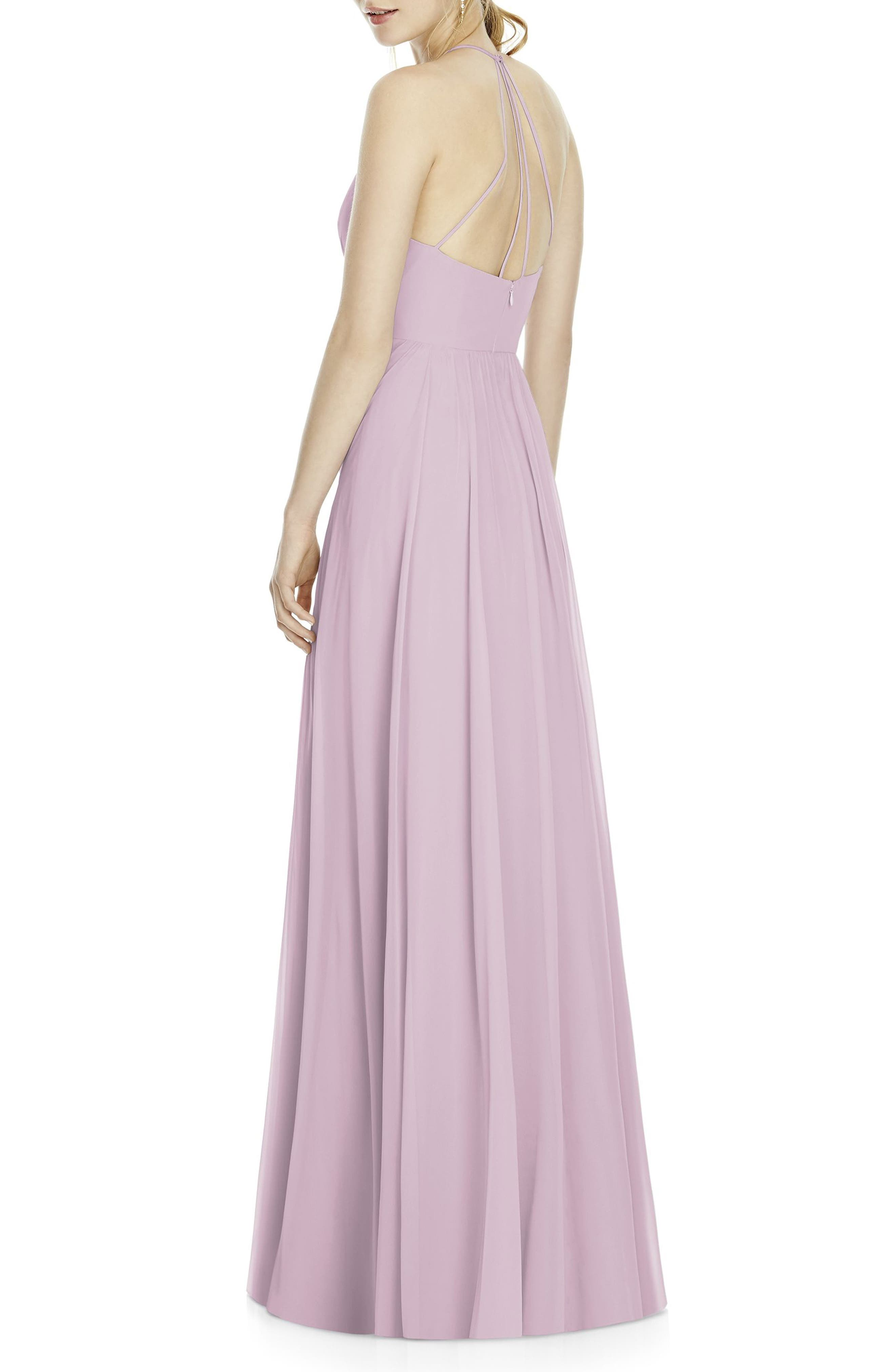 Chiffon A-Line Gown,                             Alternate thumbnail 3, color,